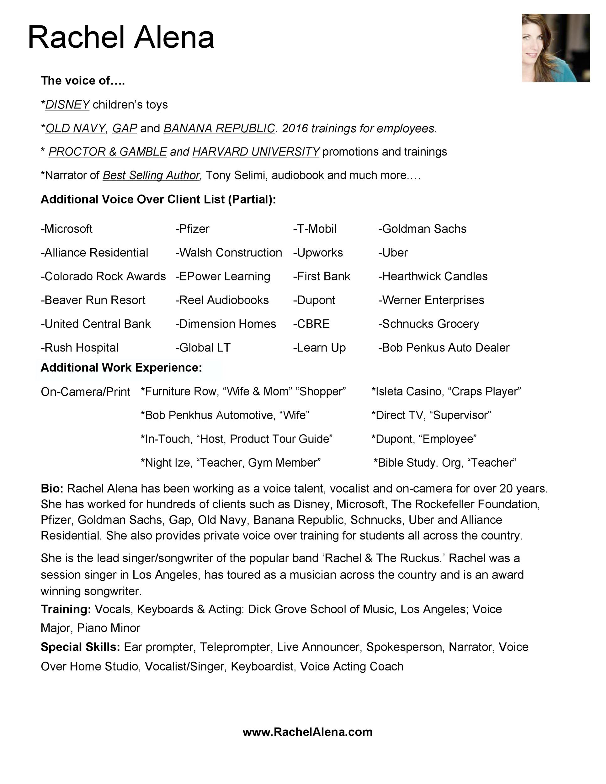 Free acting resume template 44