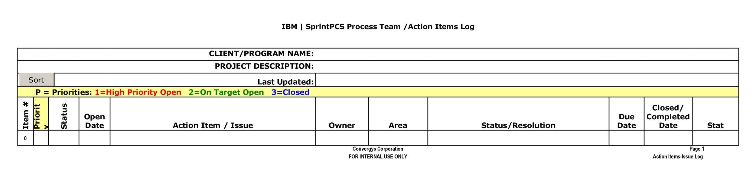 Free action items template 17