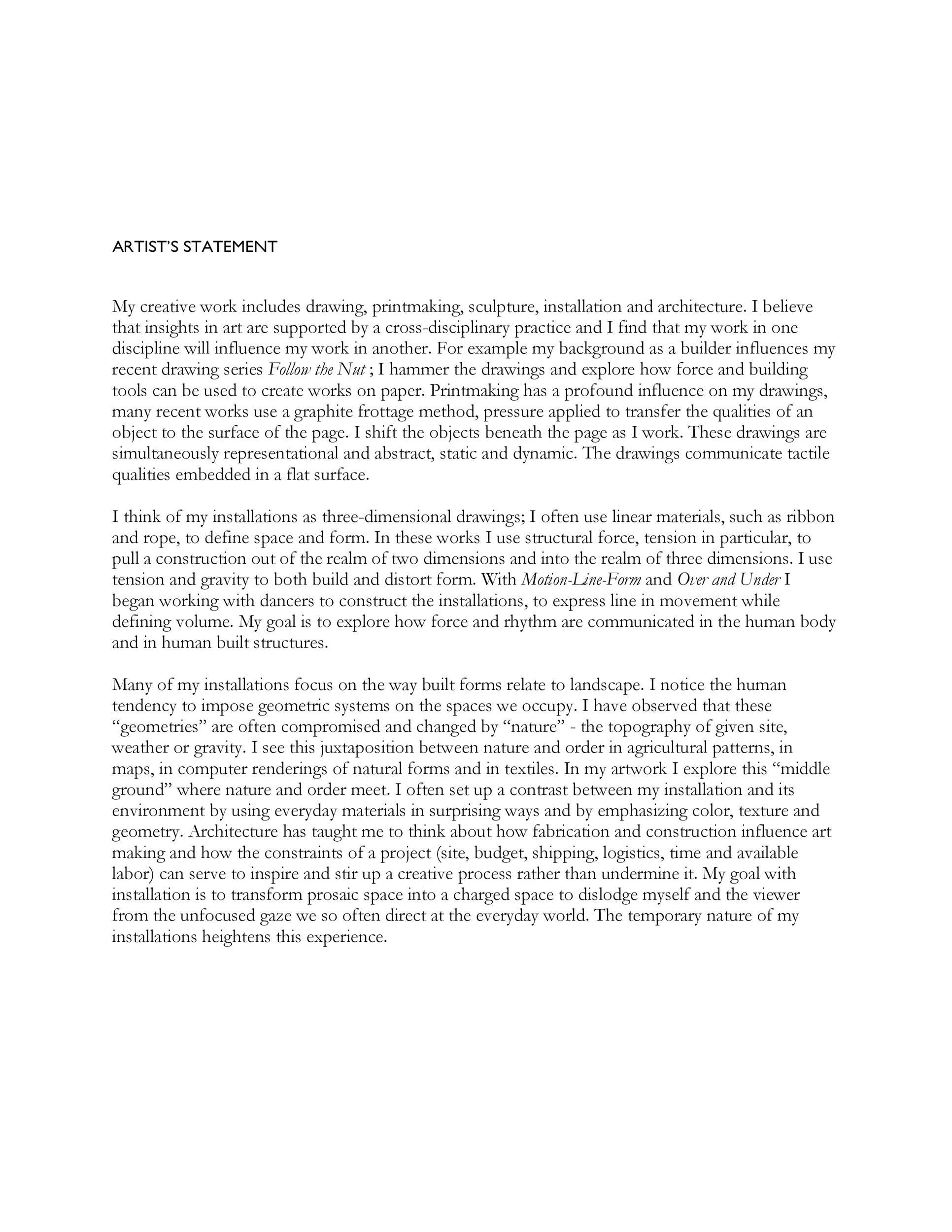 Free artist statement 11