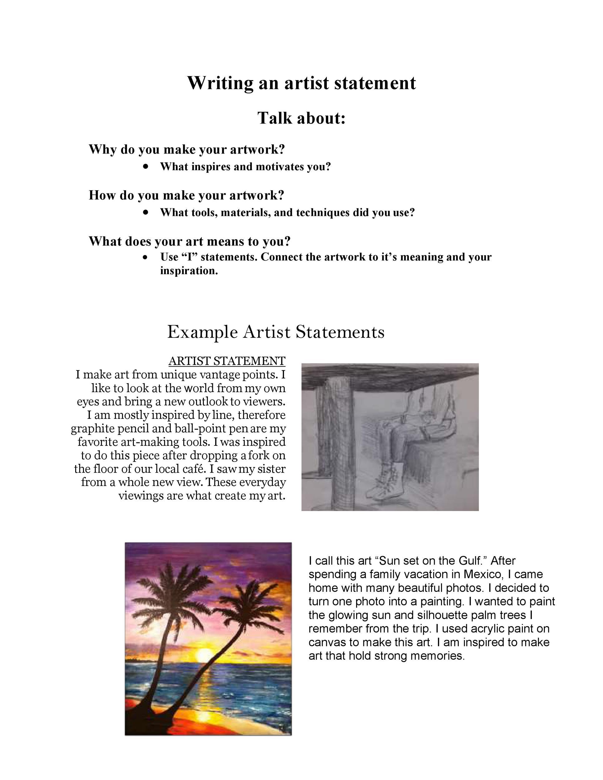 Free artist statement 26