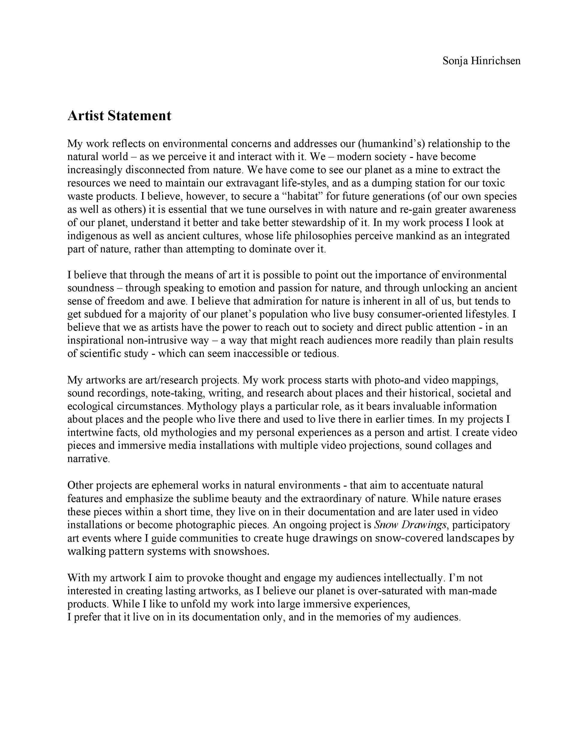 Free artist statement 31