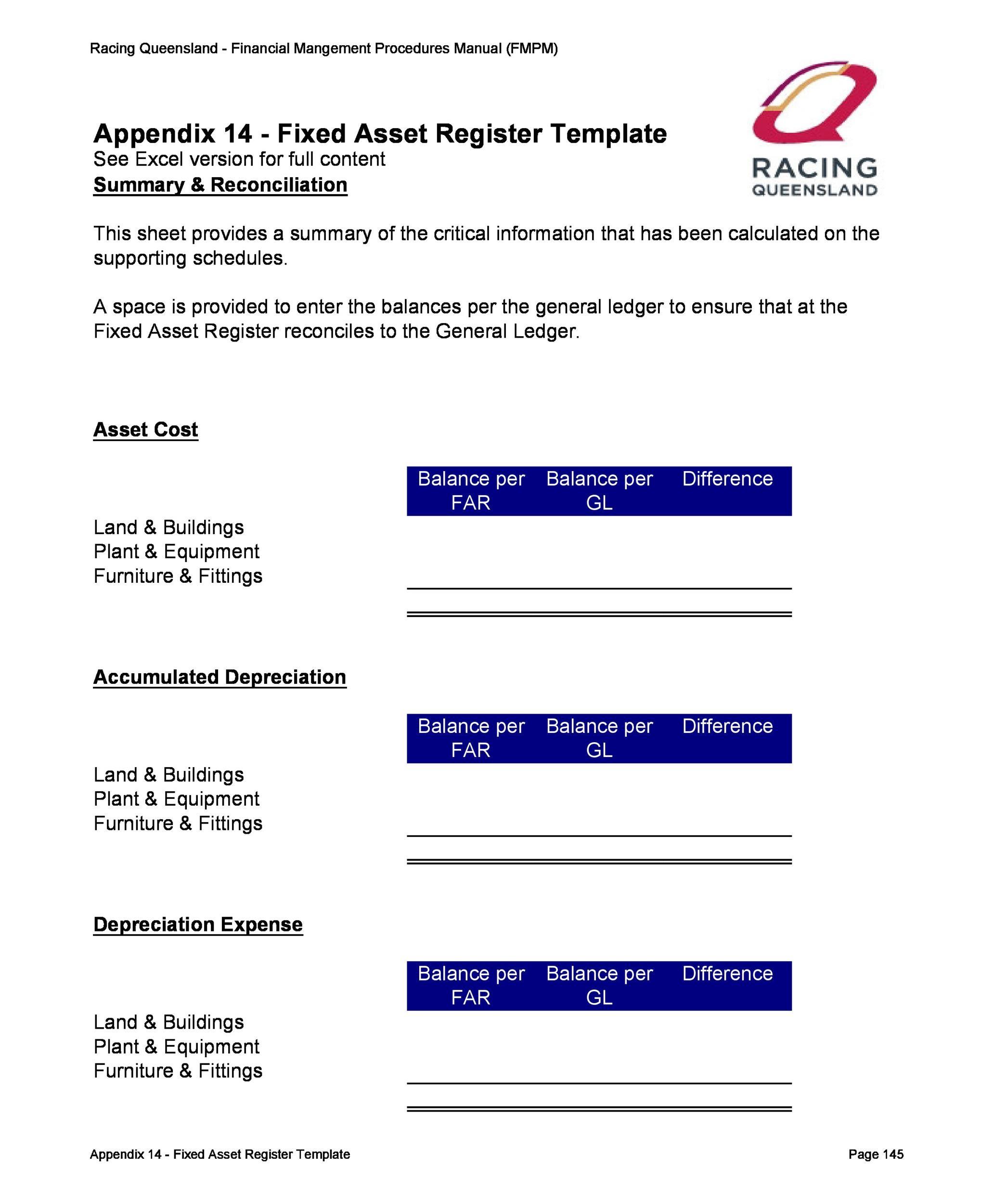 Free asset list template 28