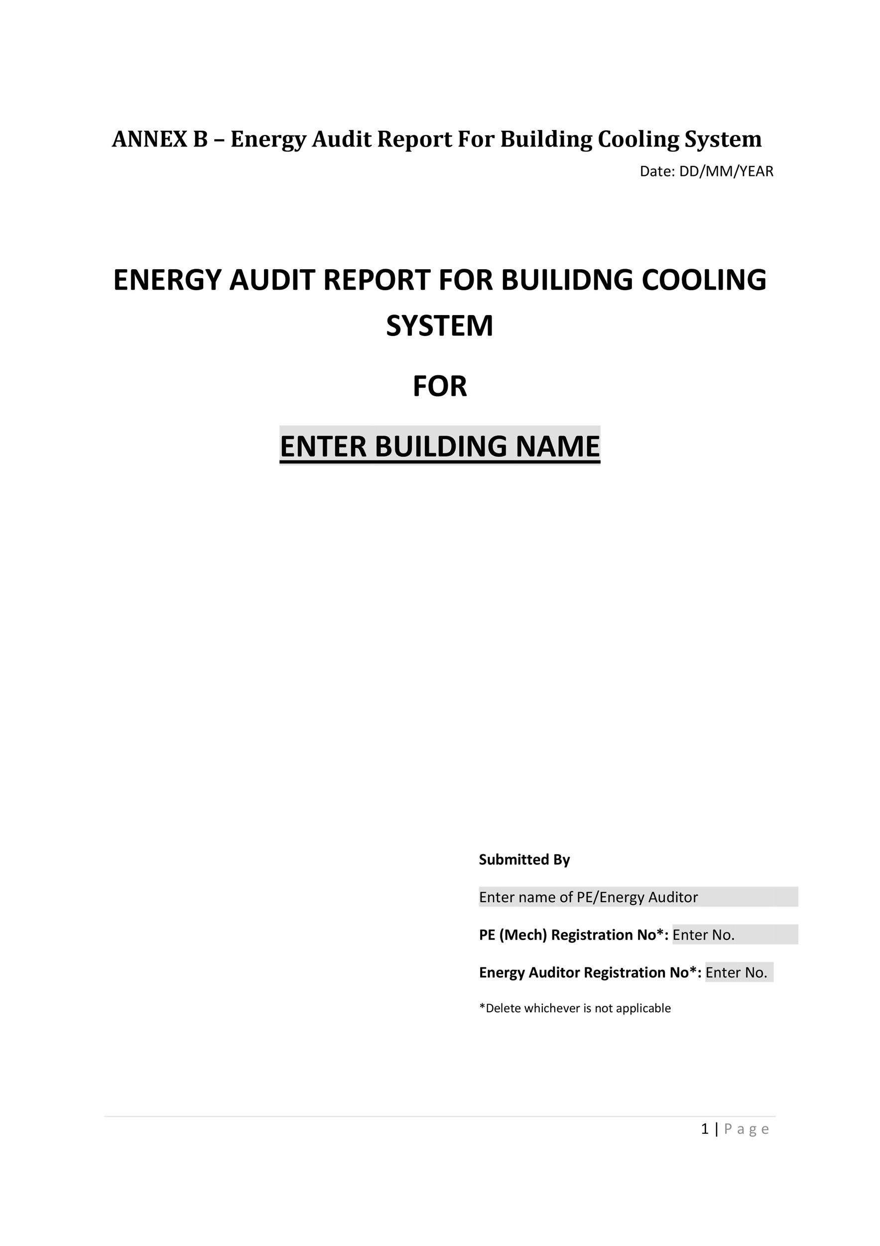 Free audit report template 06