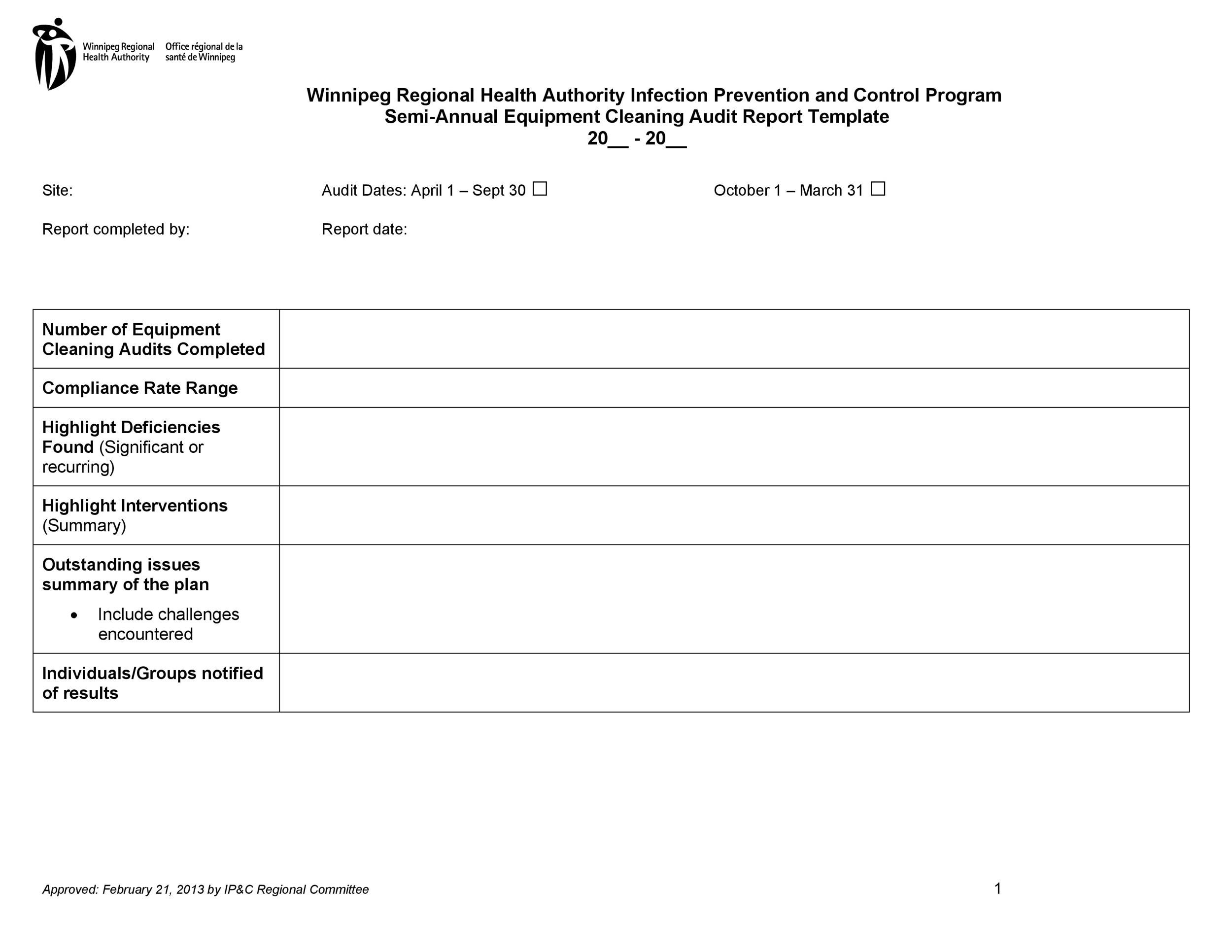 Free audit report template 12