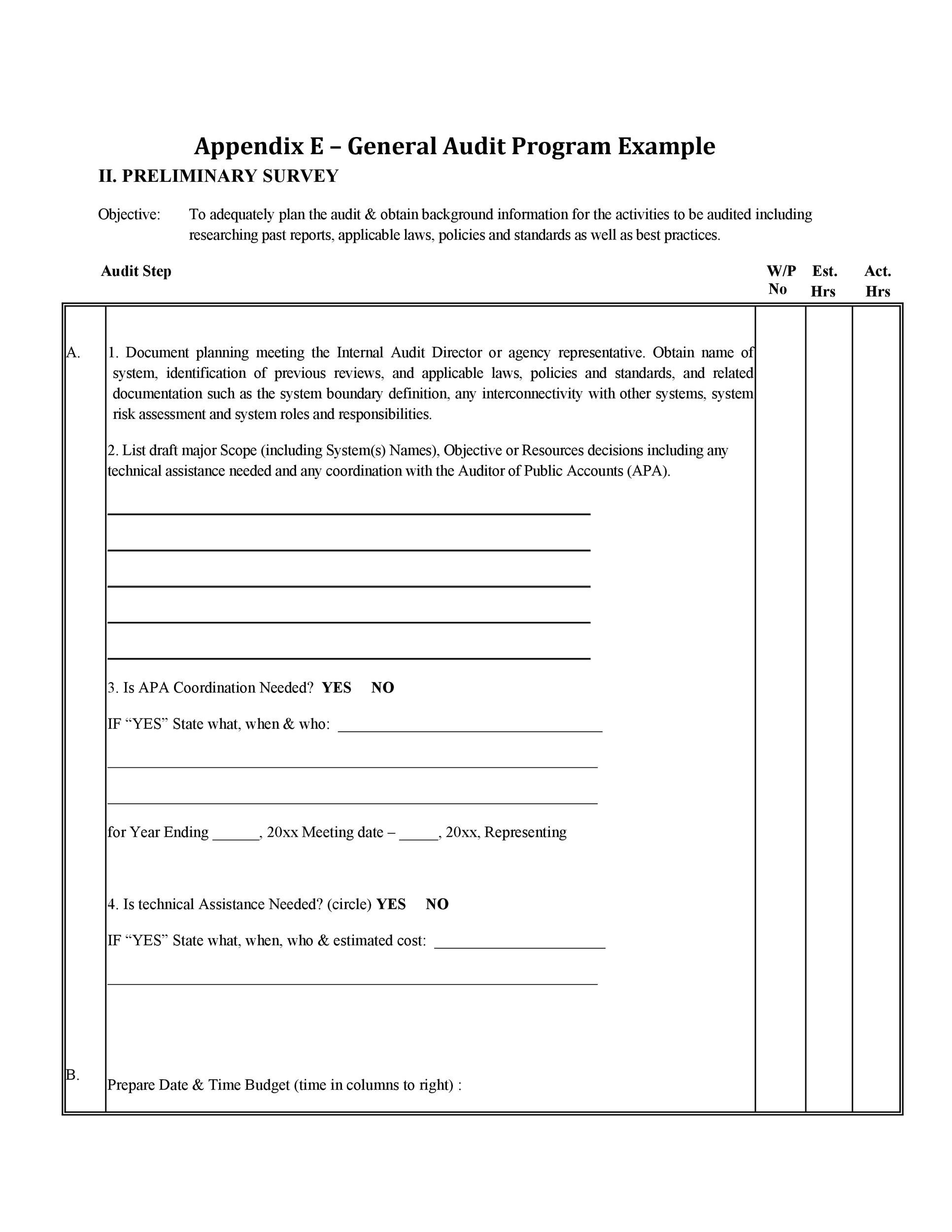 Free audit report template 14