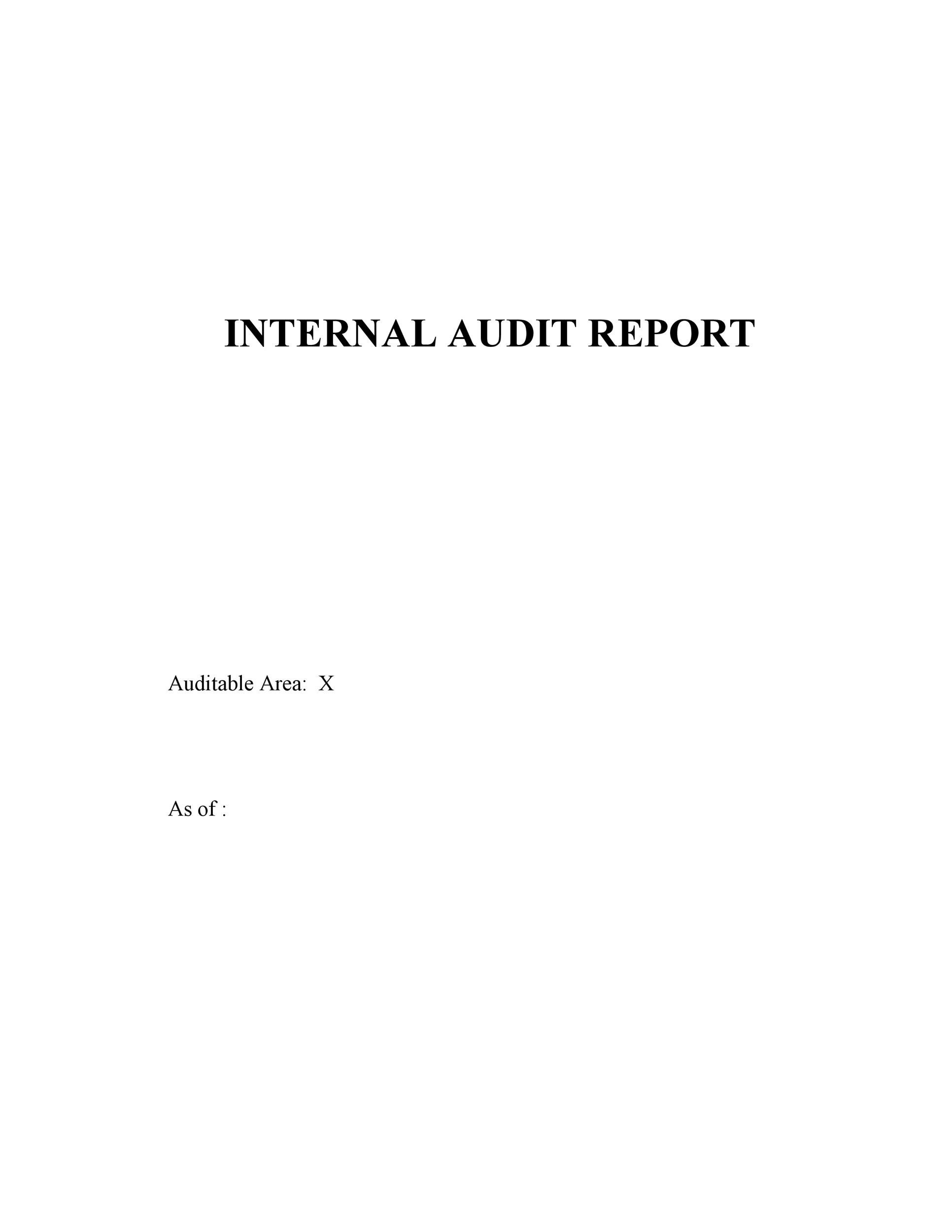 Free audit report template 33