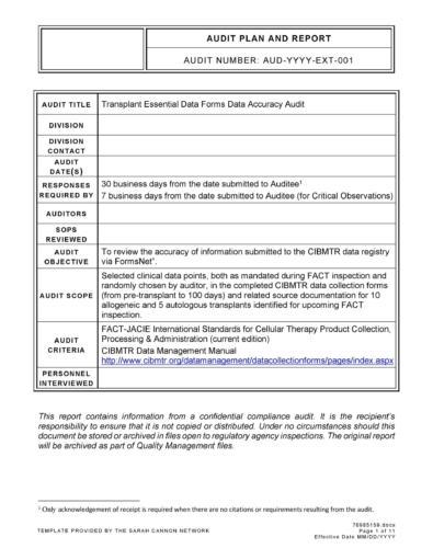 Audit Report Templates