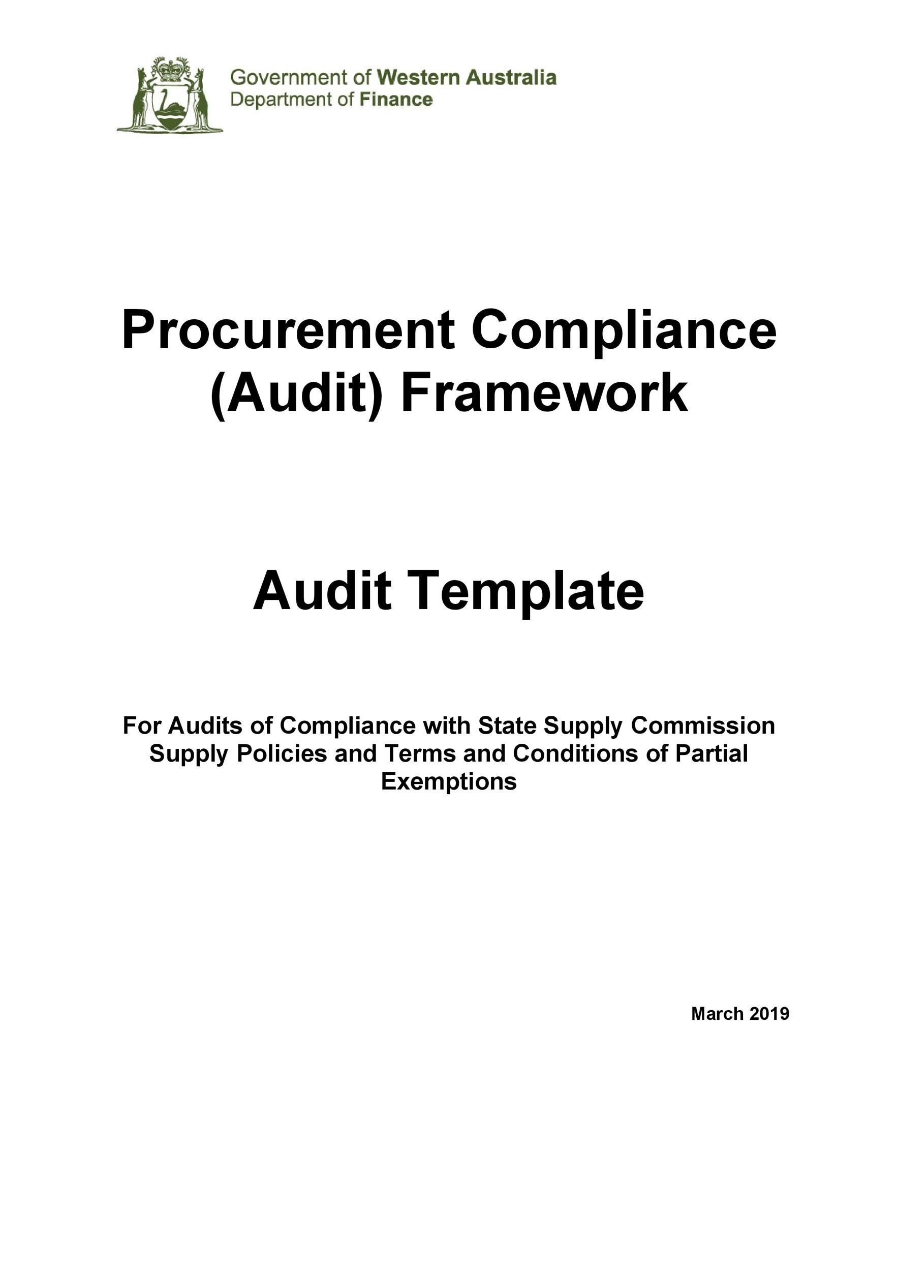 Free audit report template 36