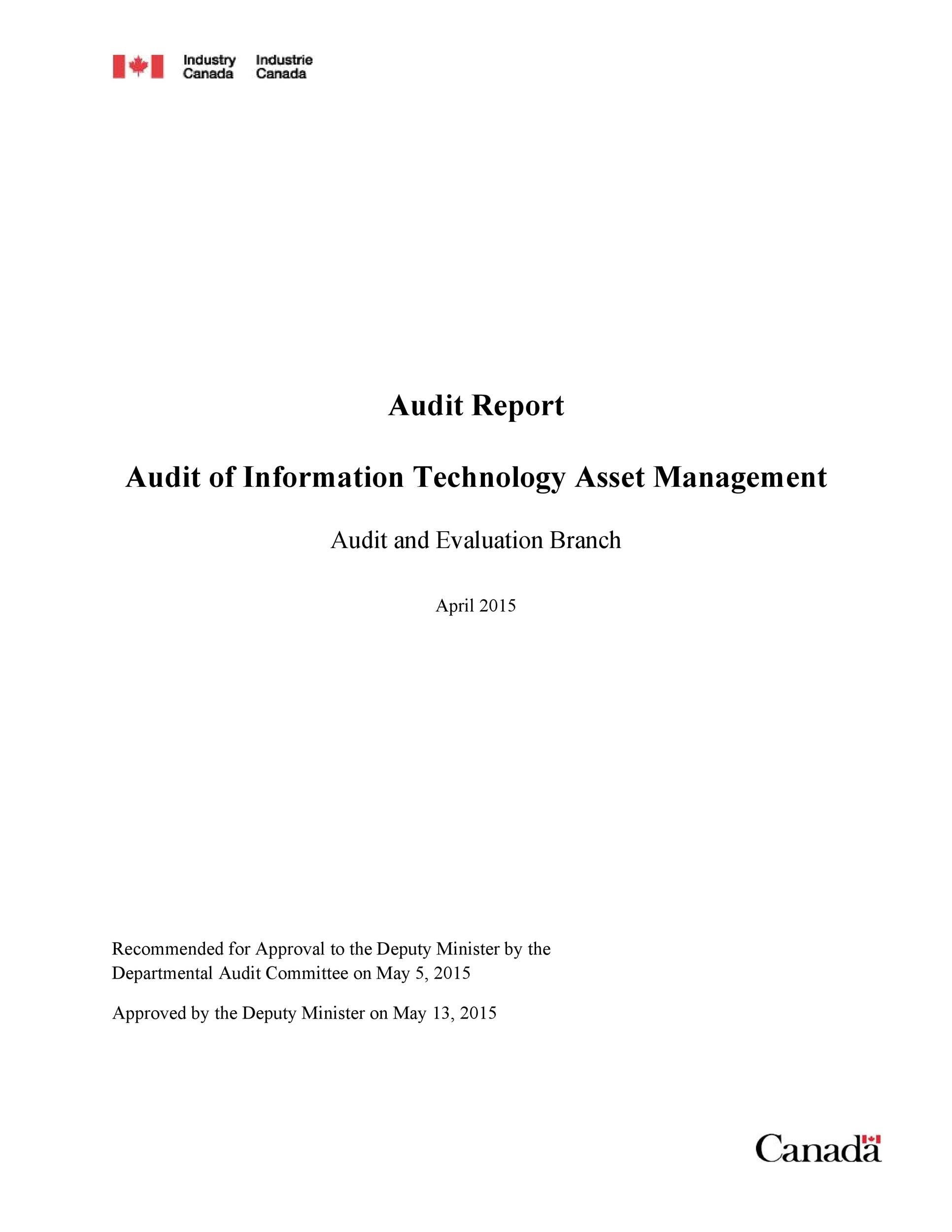 Free audit report template 49