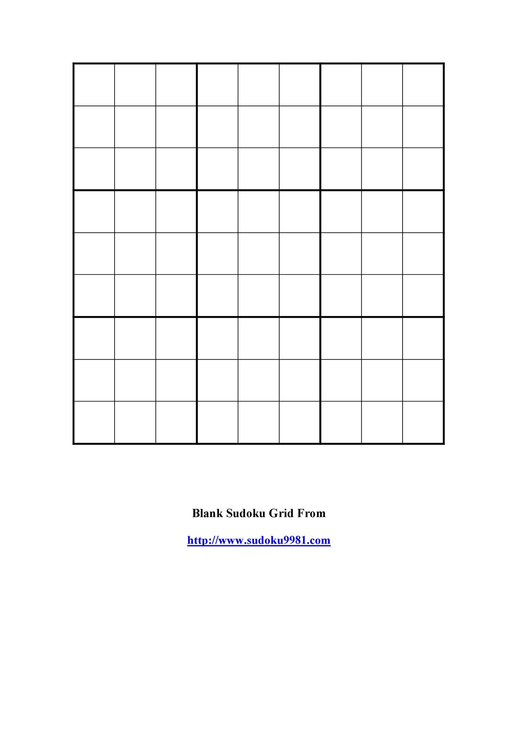 image regarding Blank Sudoku Grid Printable named 50 Blank Sudoku Grids [Free of charge Printable] ᐅ Template Lab