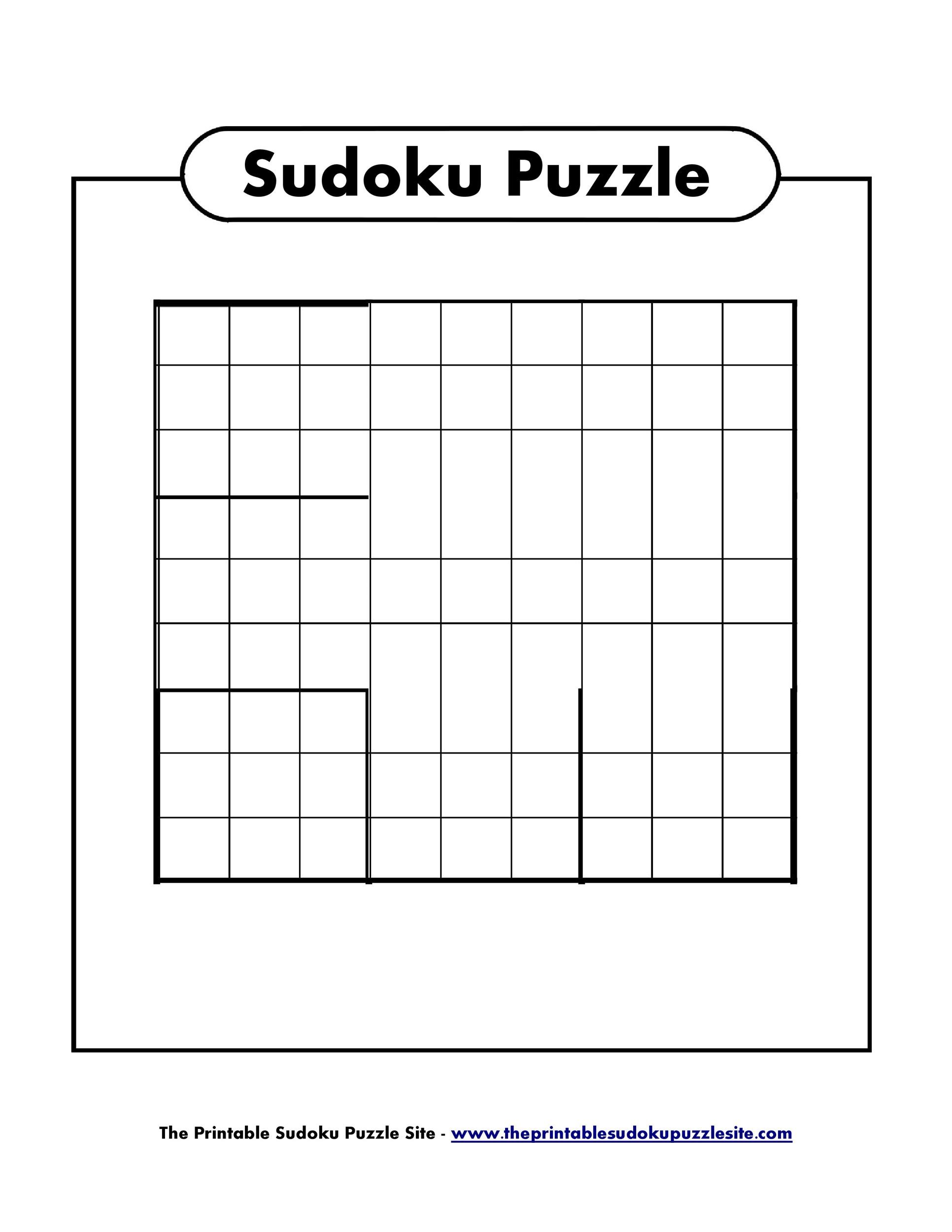 picture regarding Blank Sudoku Grid Printable named 50 Blank Sudoku Grids [Totally free Printable] ᐅ Template Lab