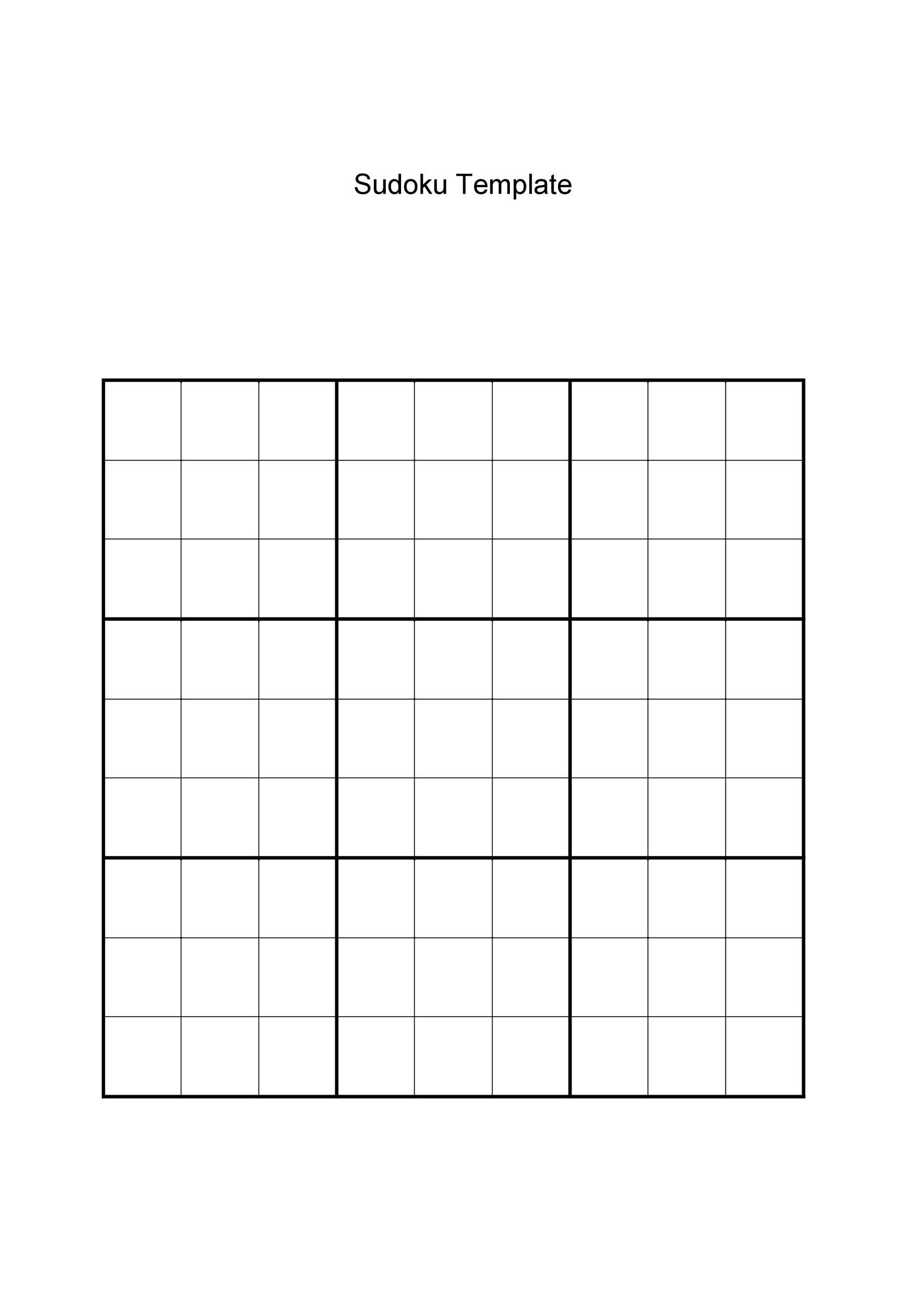 Free blank sudoku grid 10