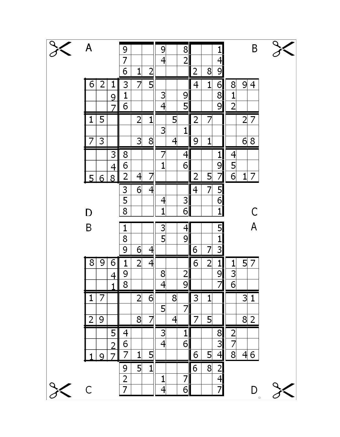 Free blank sudoku grid 15