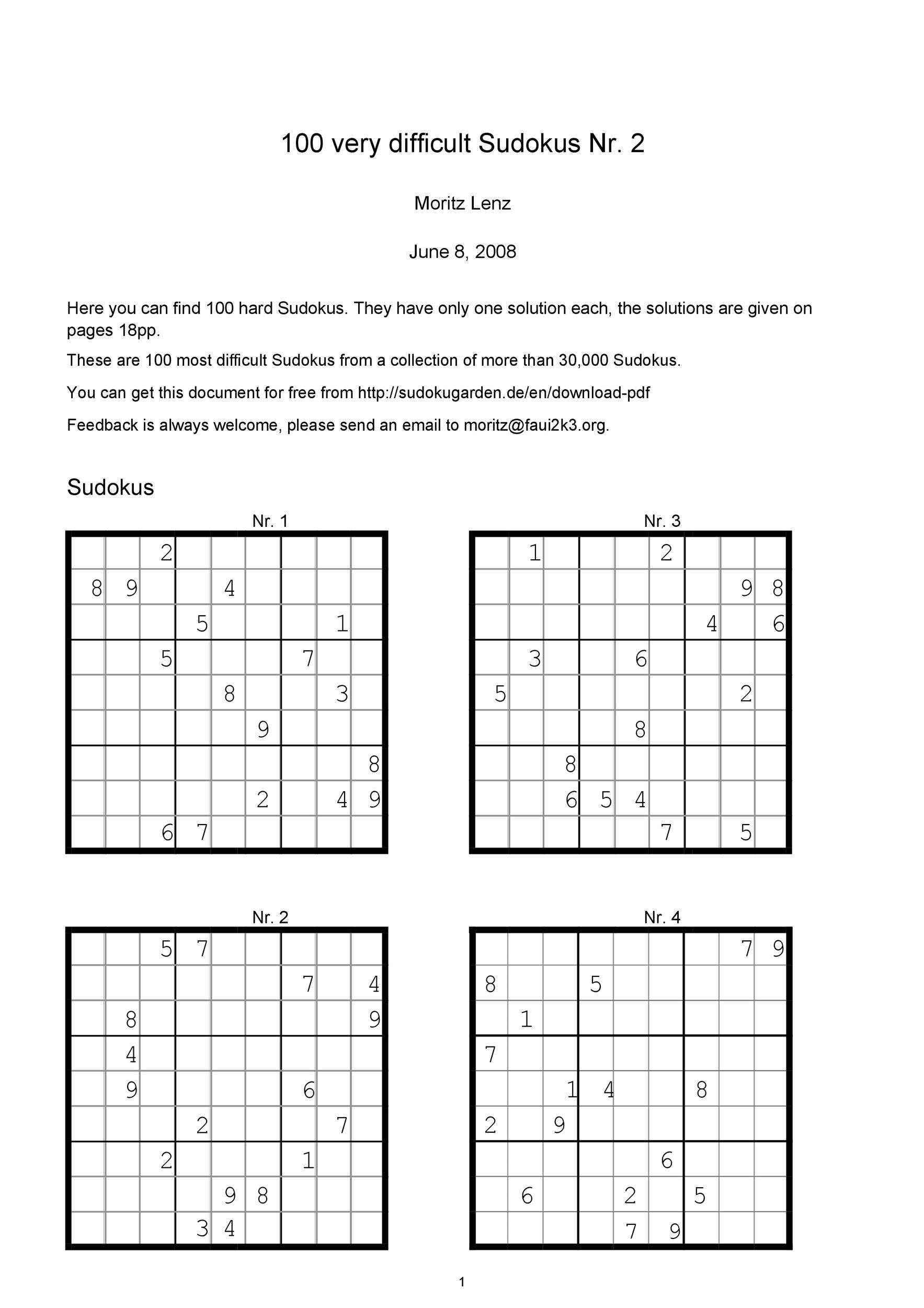 Free blank sudoku grid 20