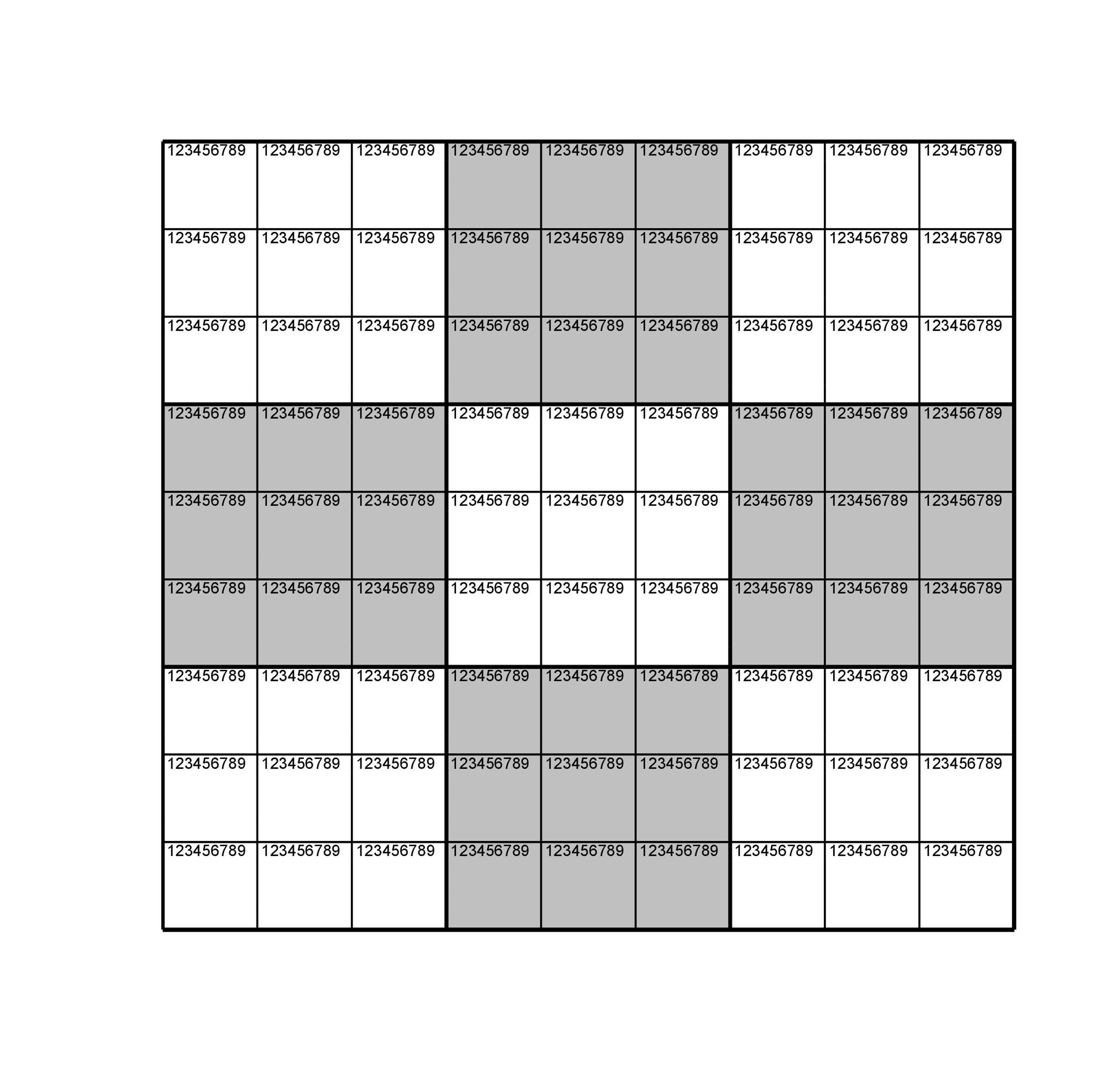 Free blank sudoku grid 27