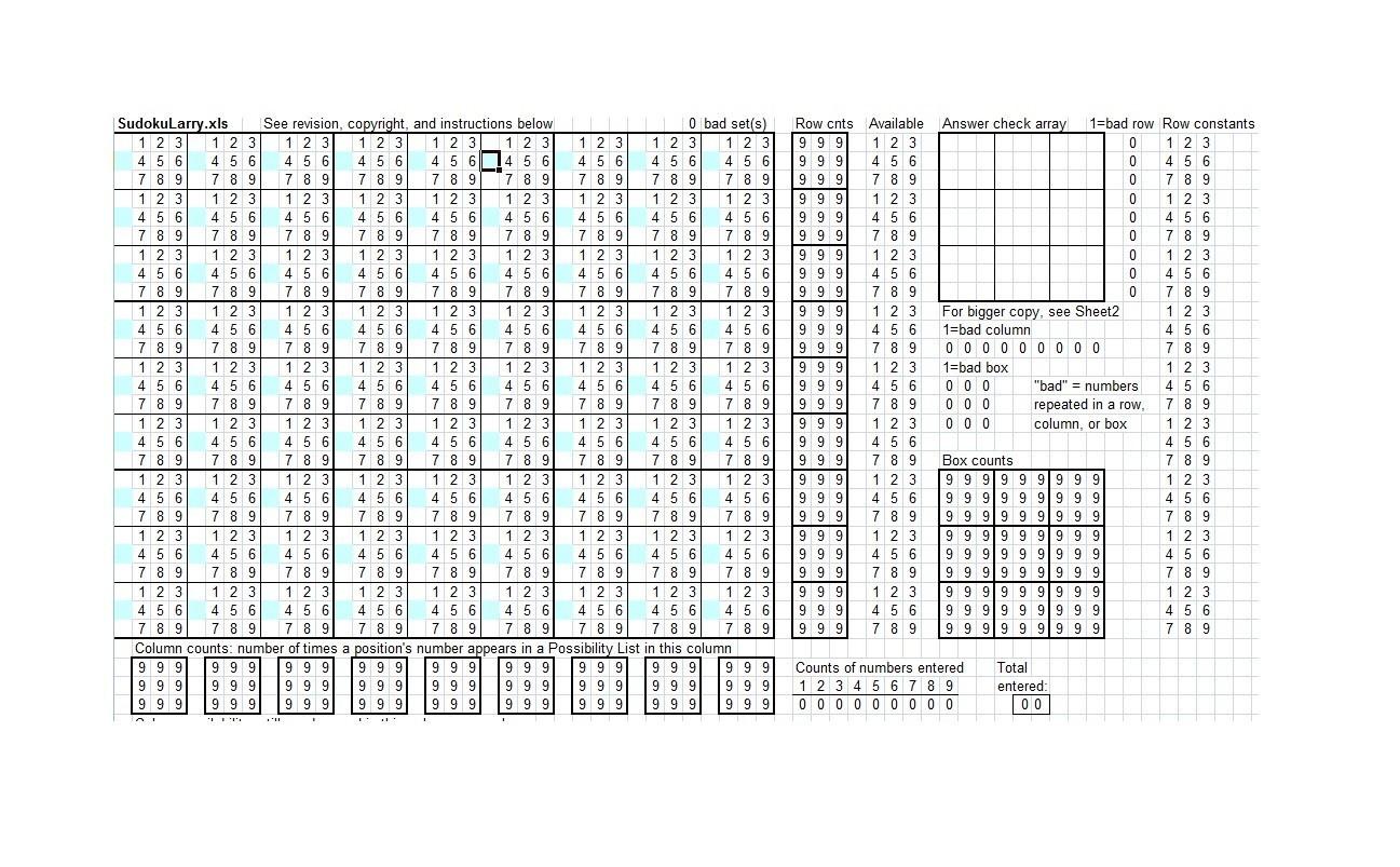 Free blank sudoku grid 38