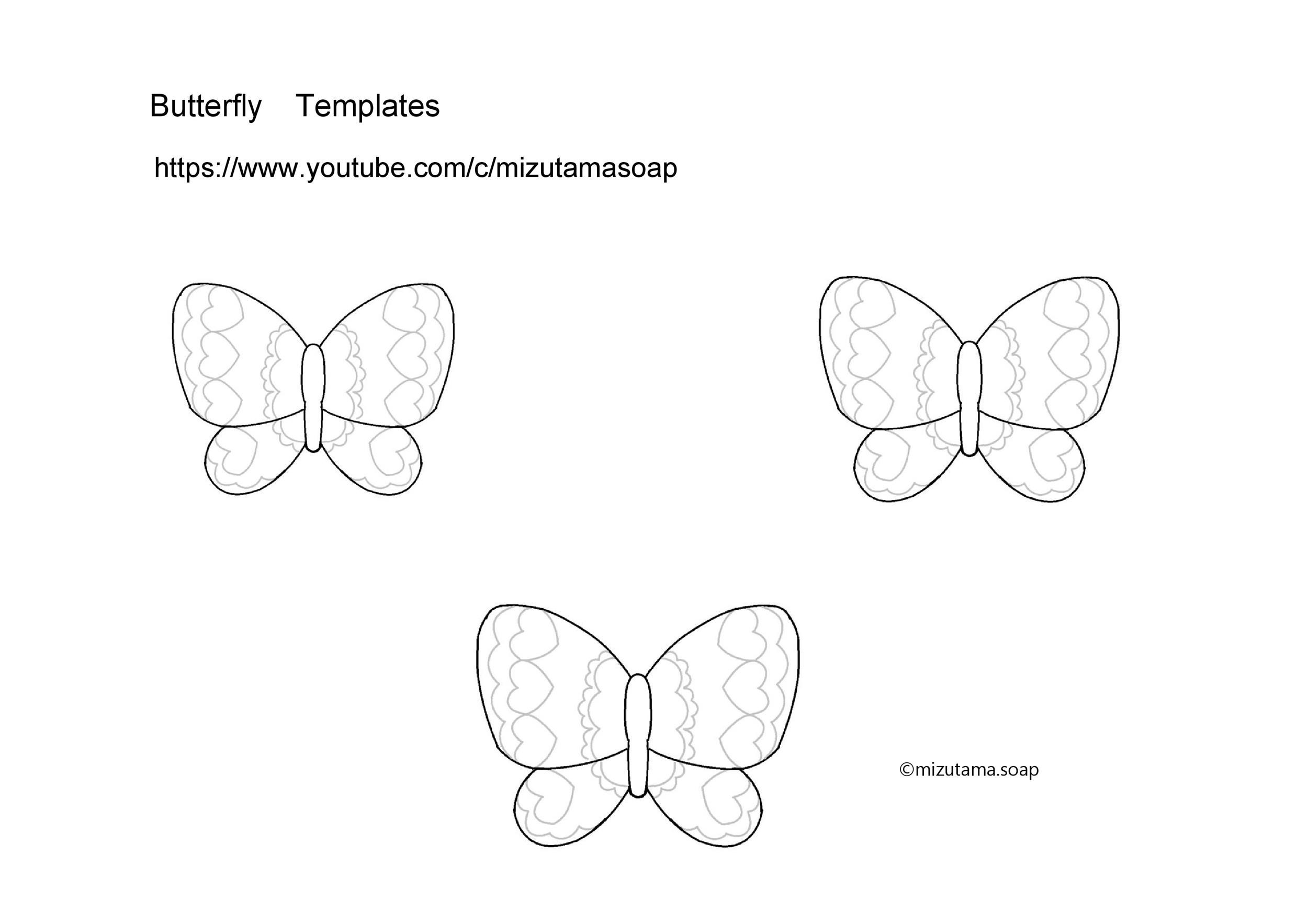 Free butterfly template 02