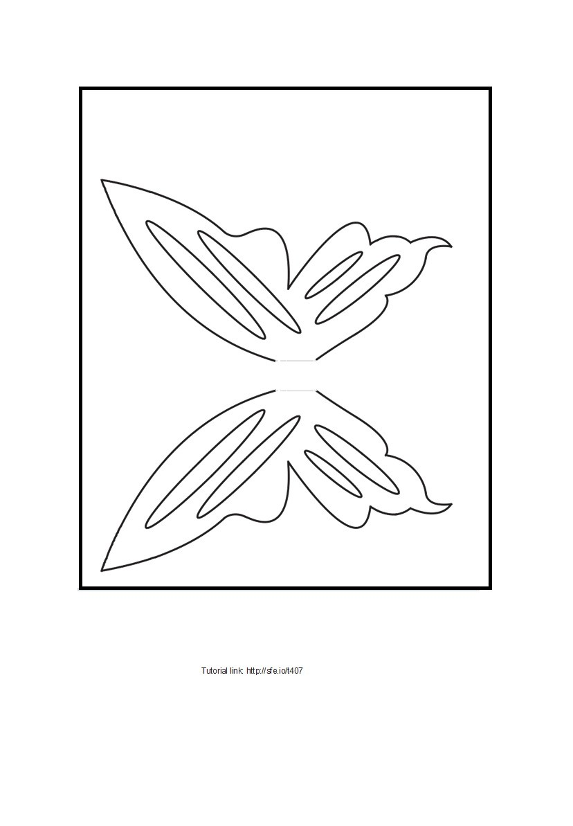 Free butterfly template 04