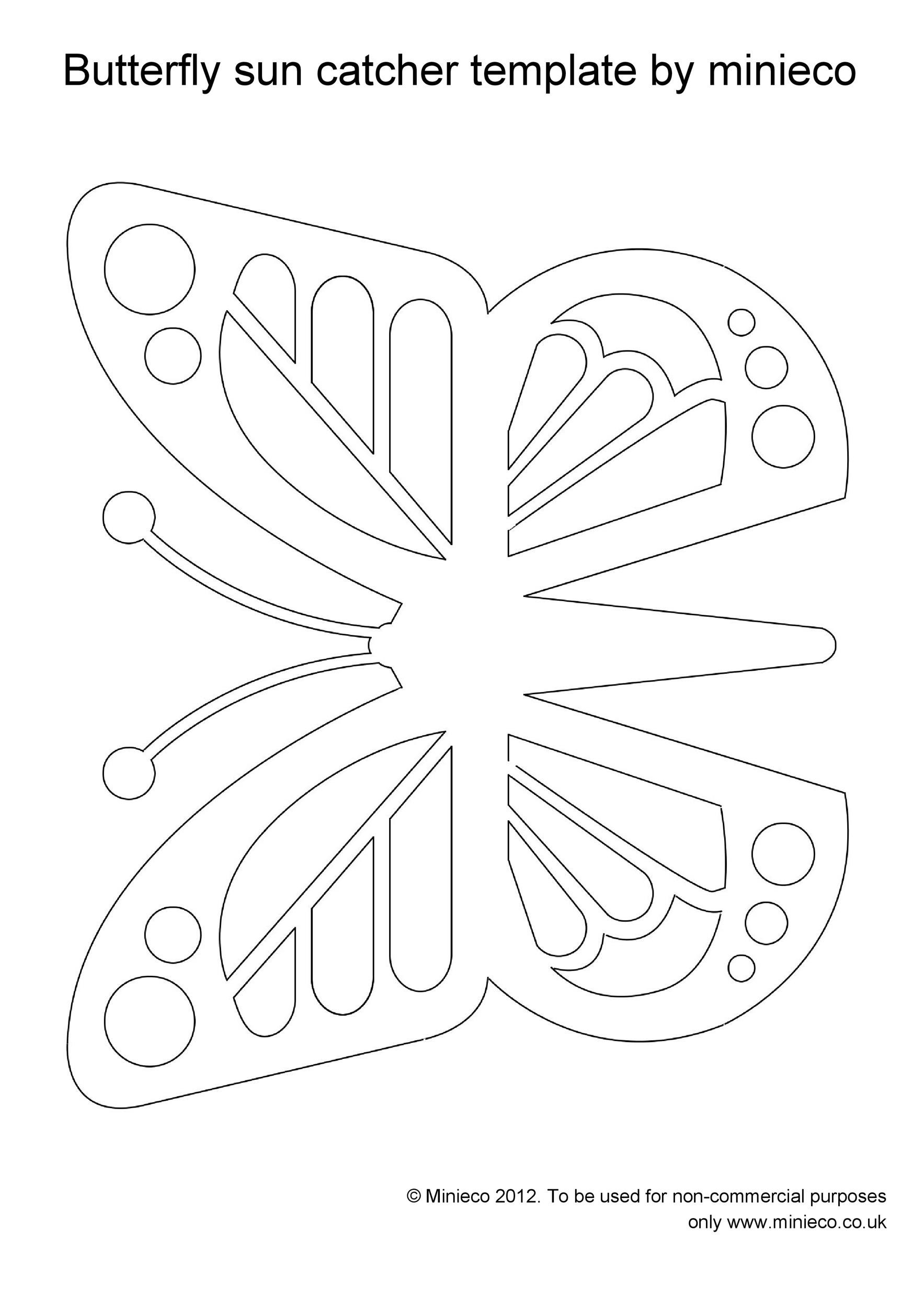 Free butterfly template 05
