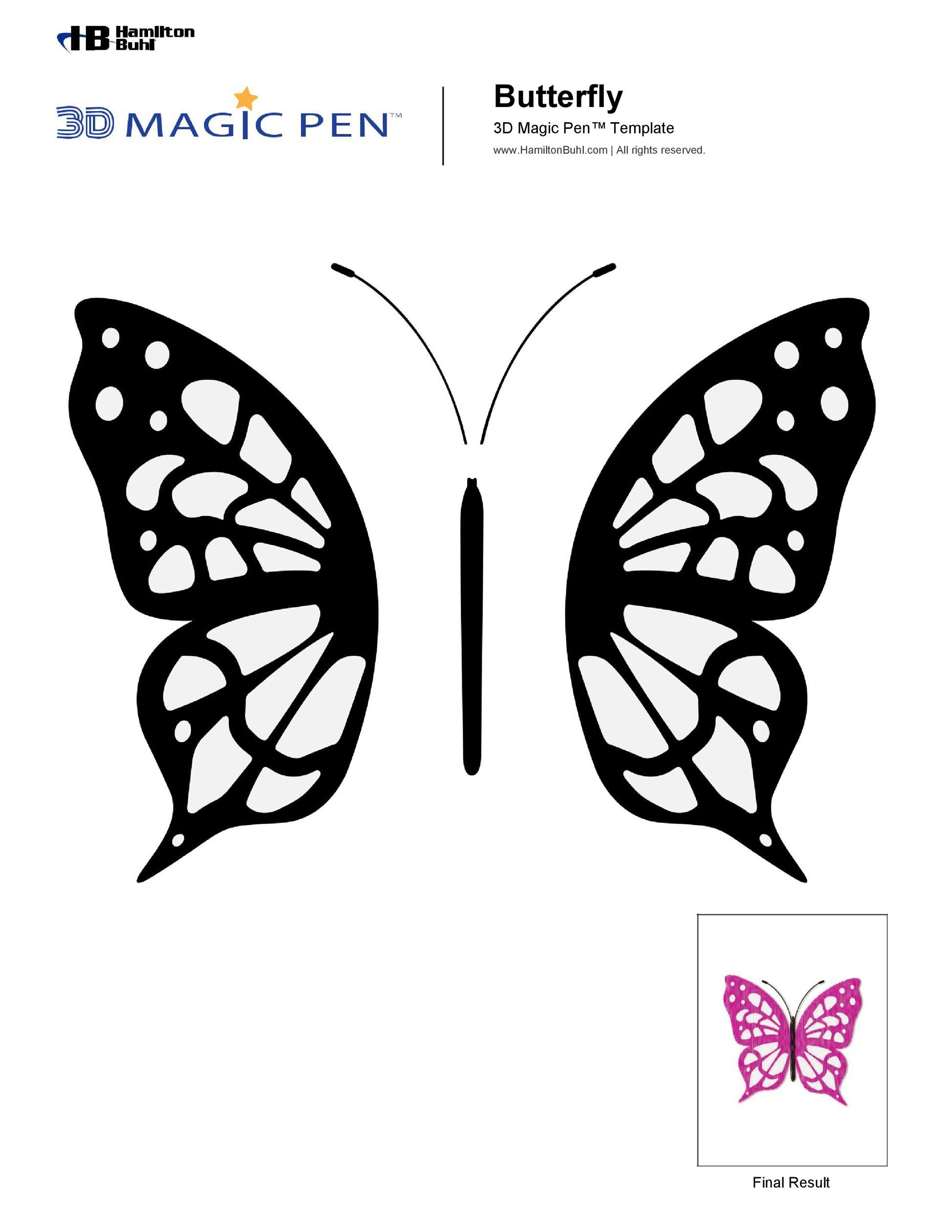Free butterfly template 08
