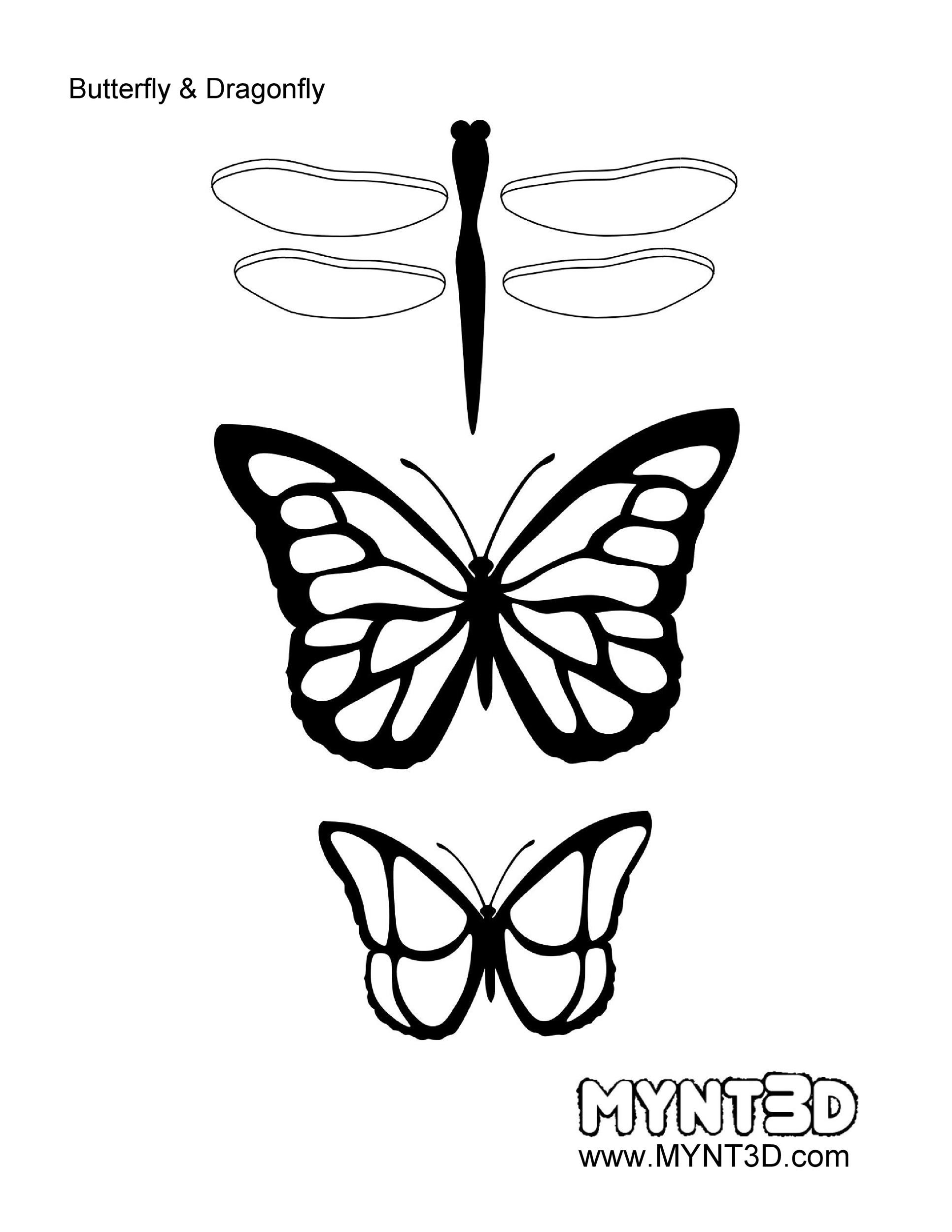 Free butterfly template 09