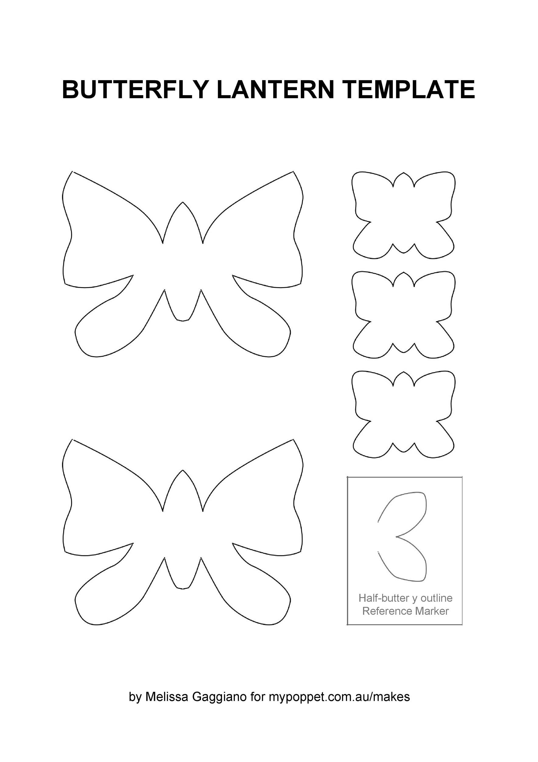 Free butterfly template 10