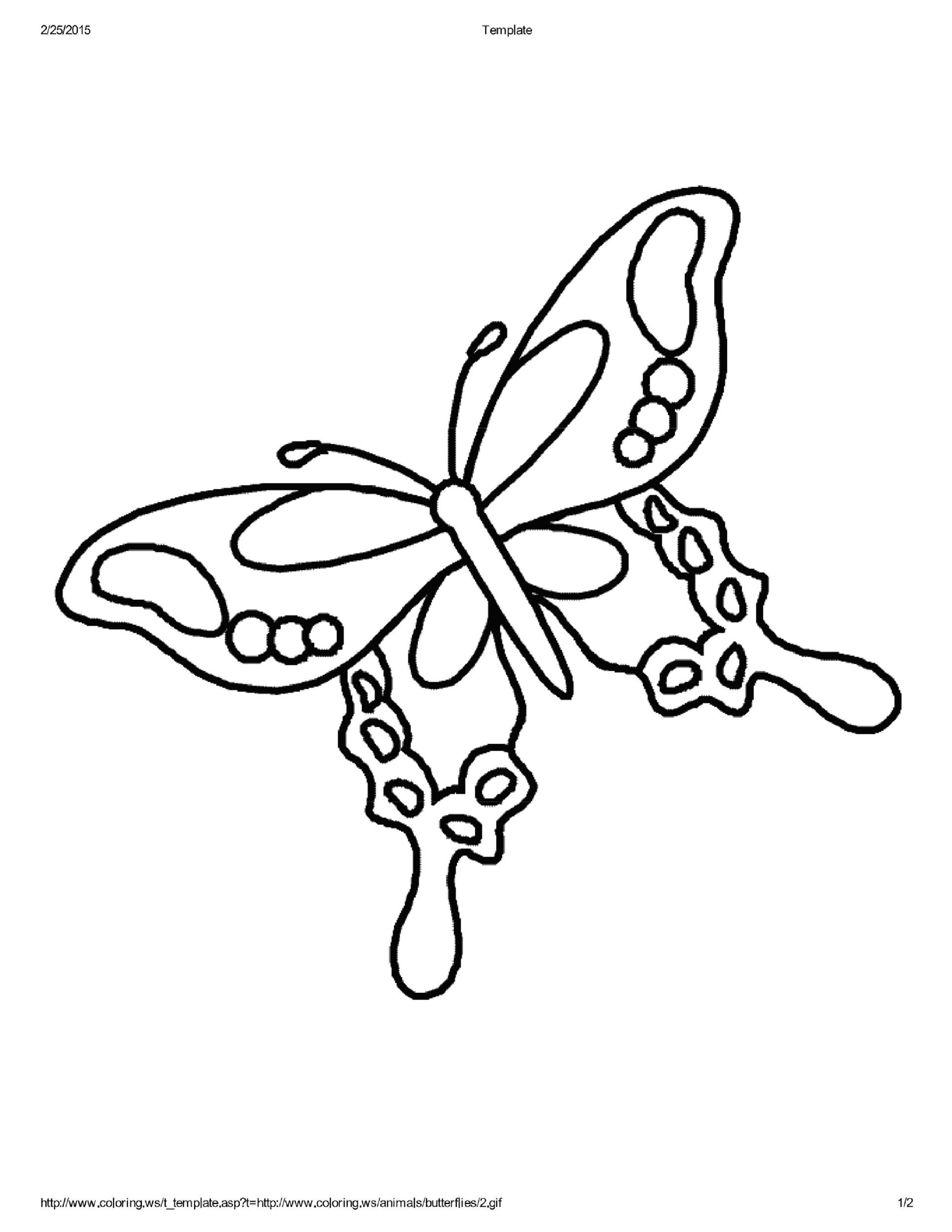 Free butterfly template 11