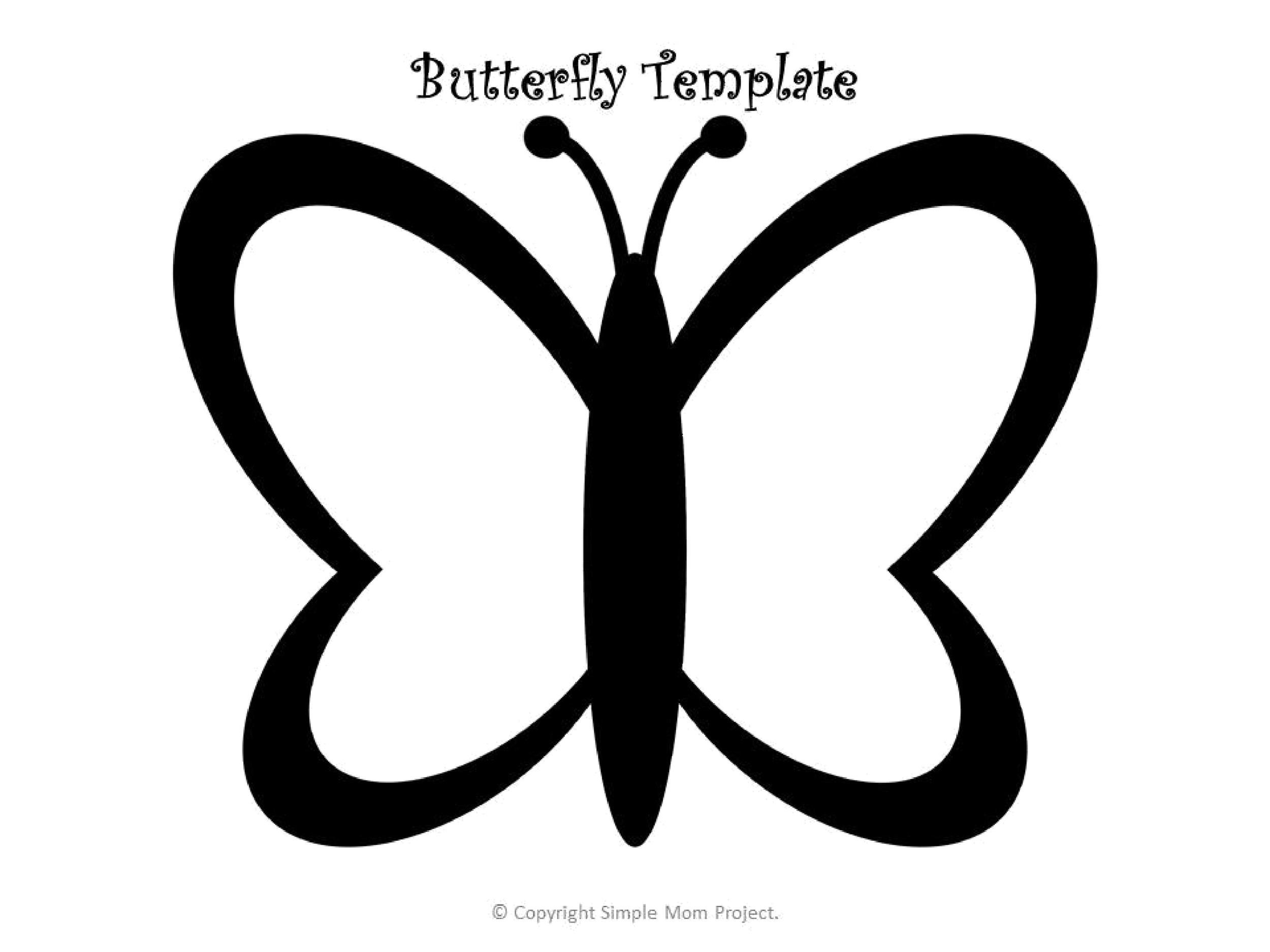 Free butterfly template 16