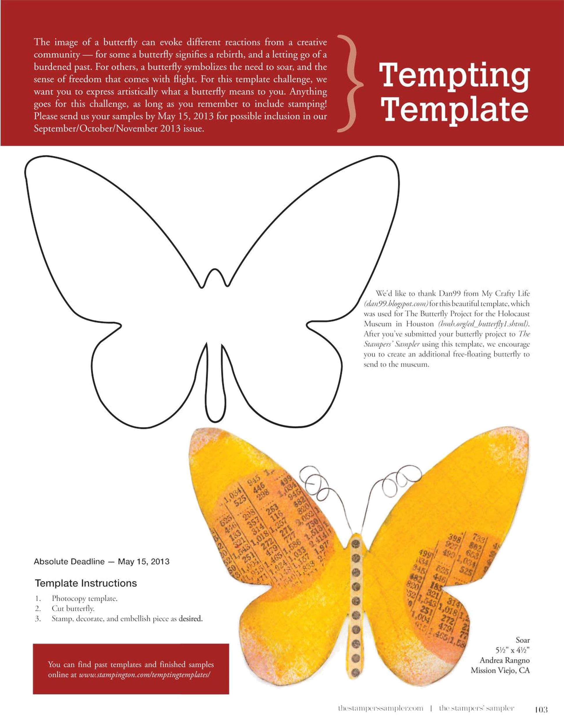 Free butterfly template 17