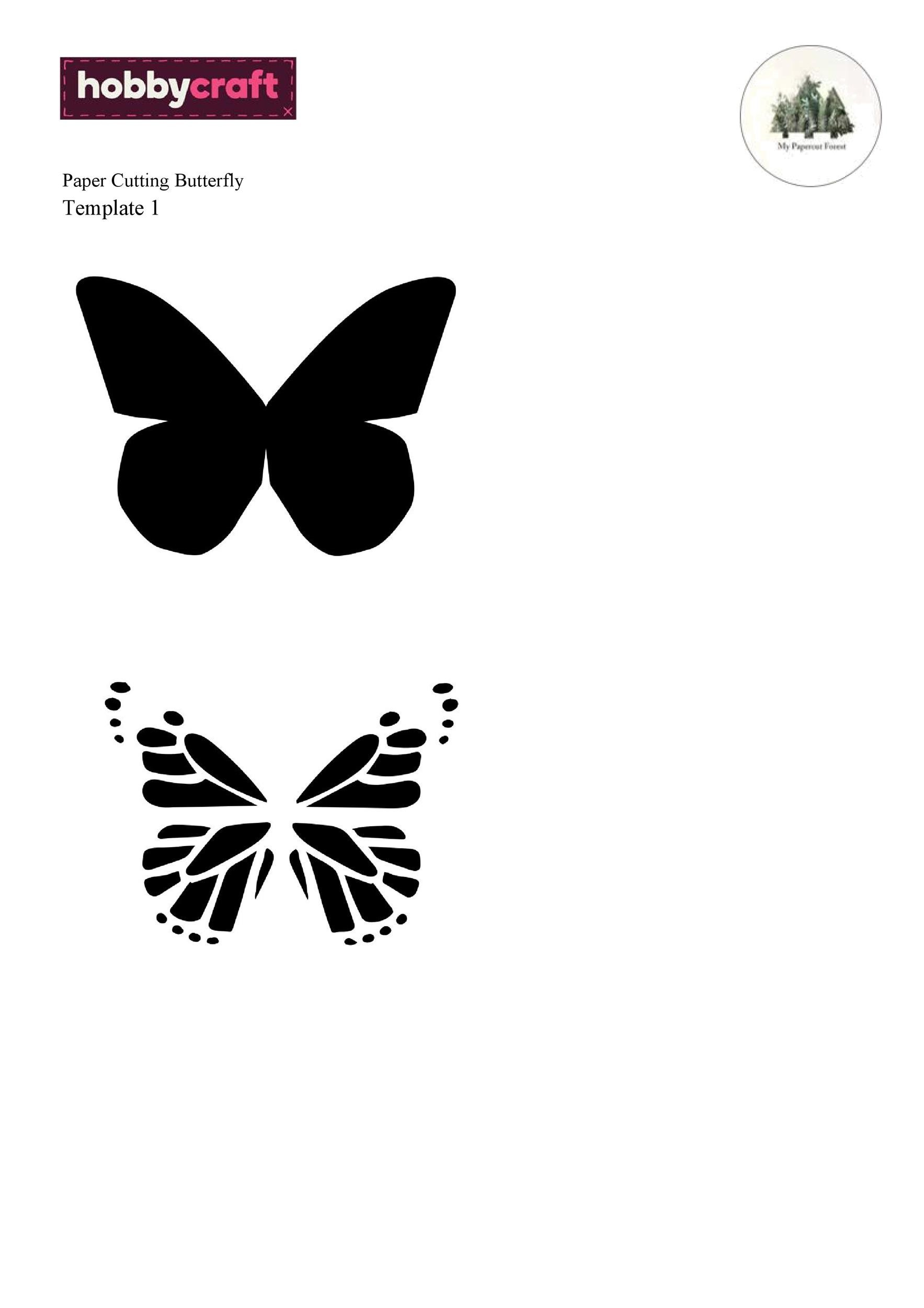 Free butterfly template 19