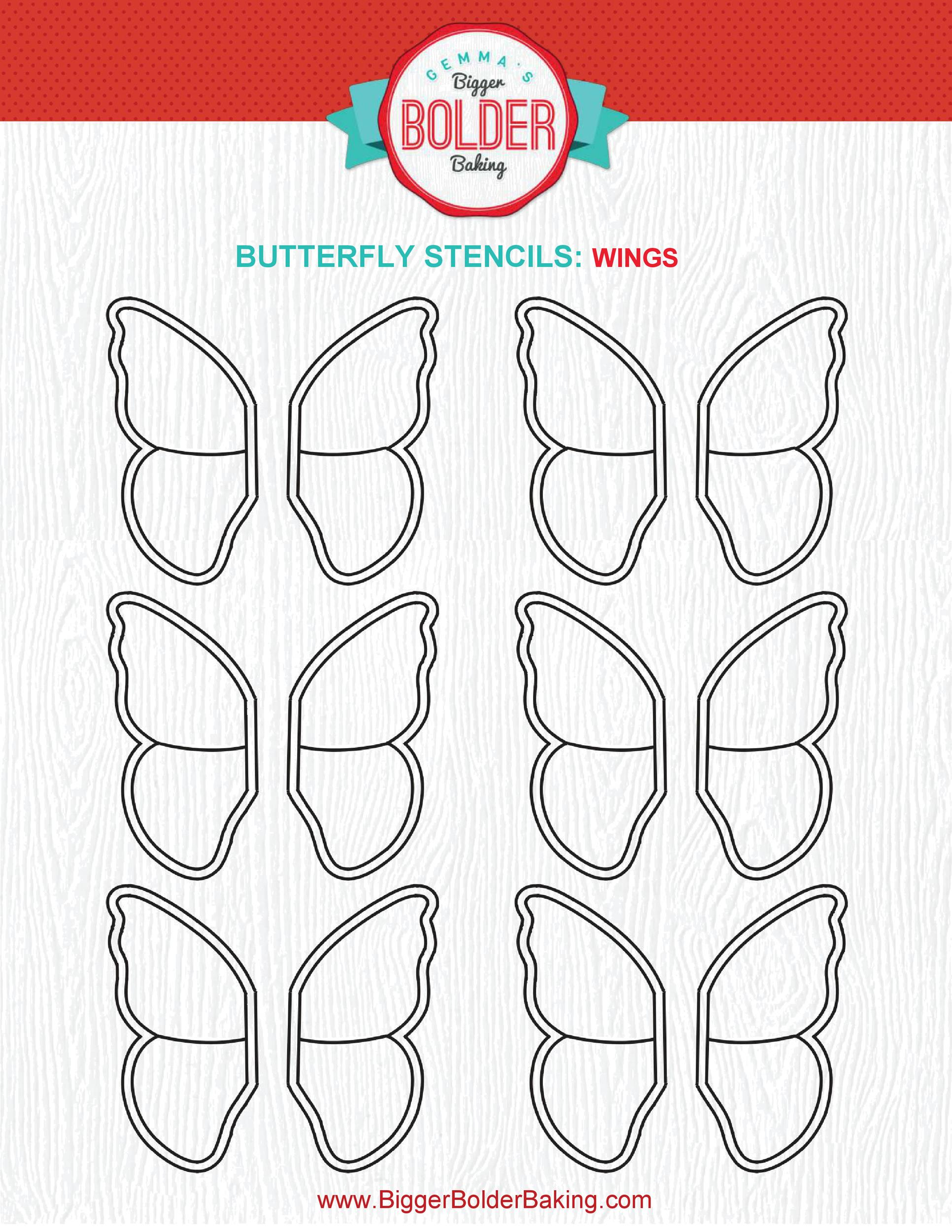 Free butterfly template 21