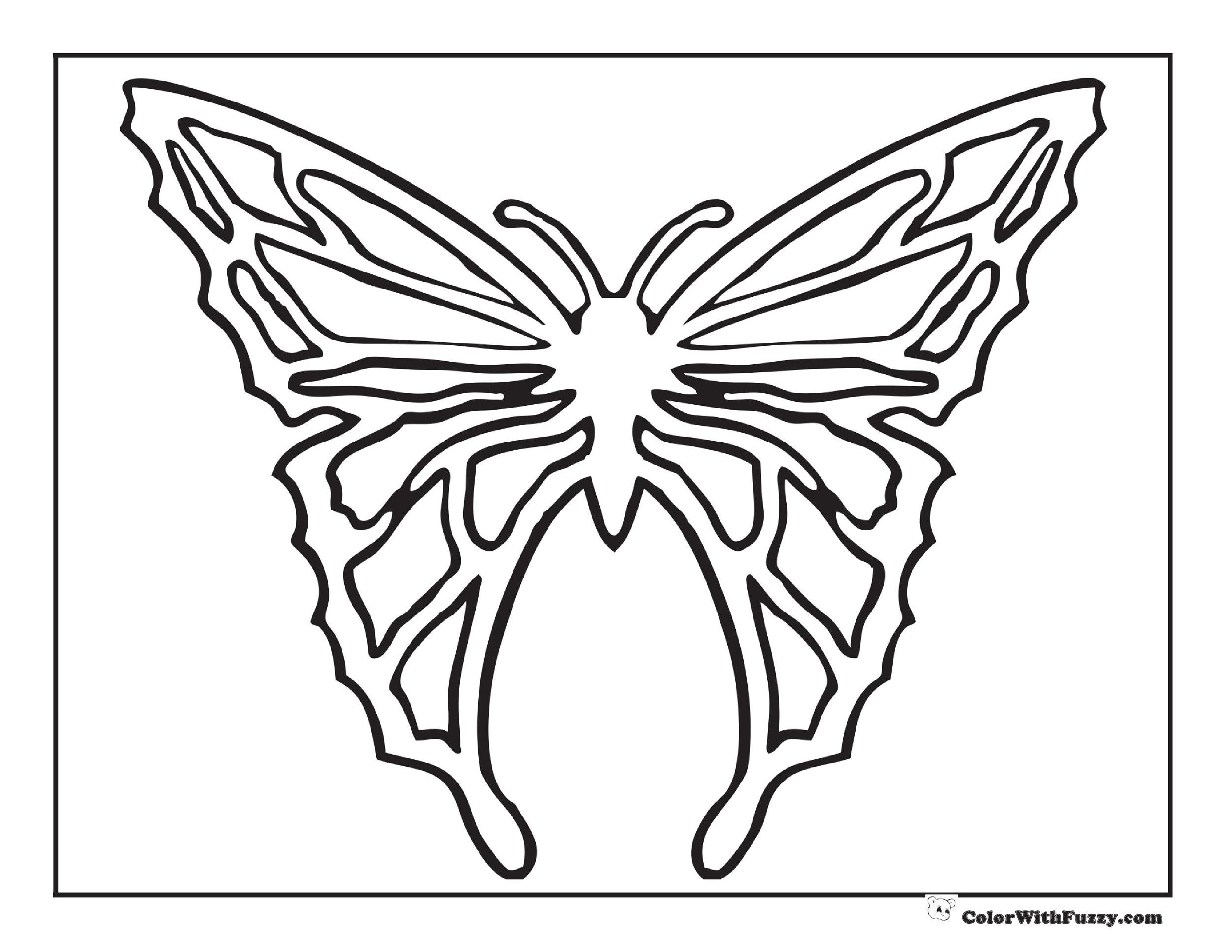 Free butterfly template 38