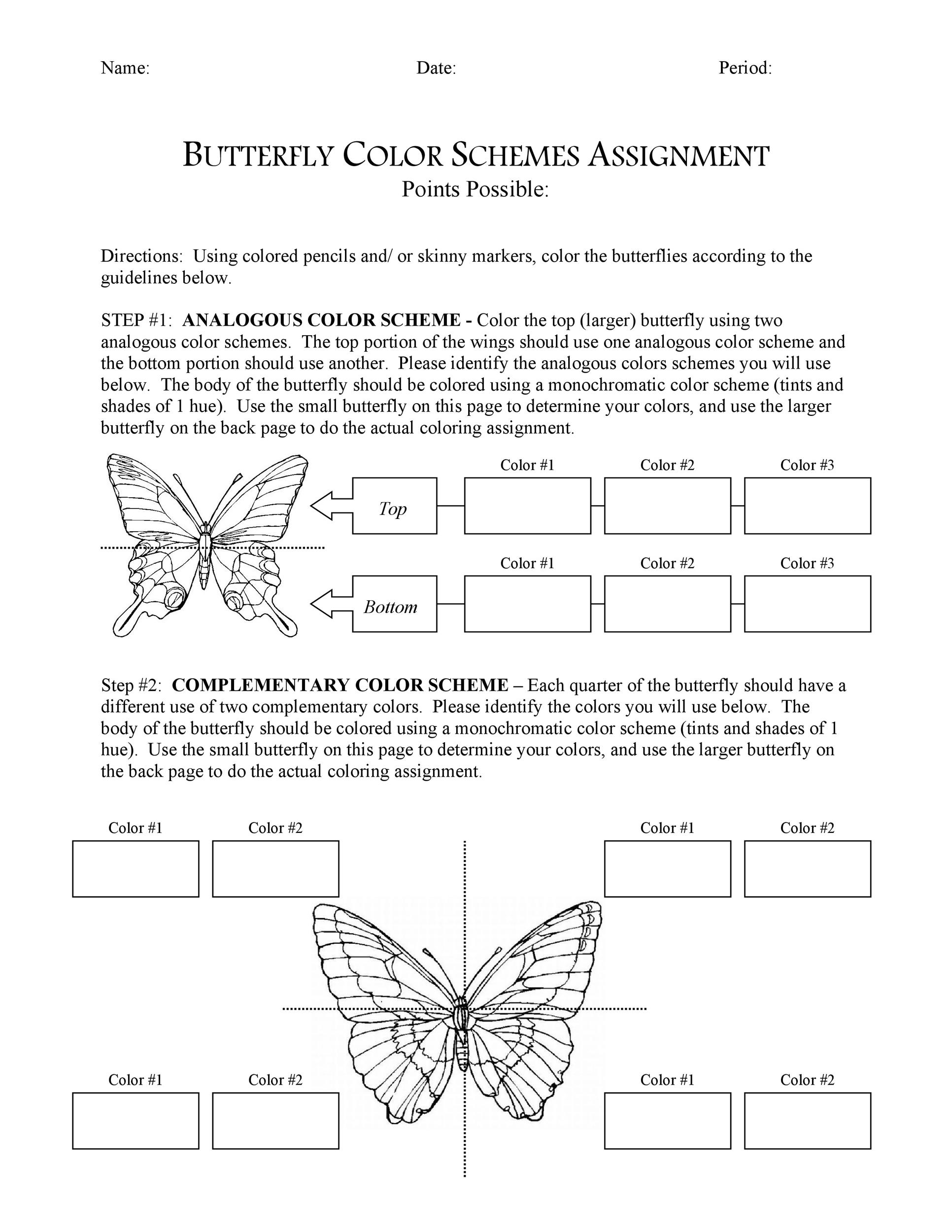 Free butterfly template 41