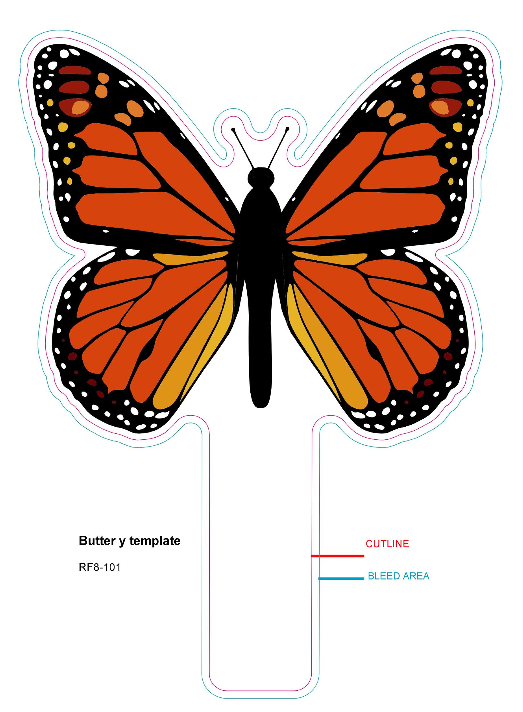Free butterfly template 45