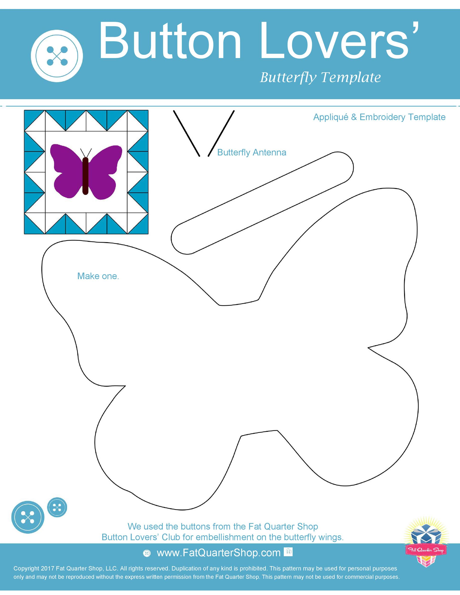 Free butterfly template 46