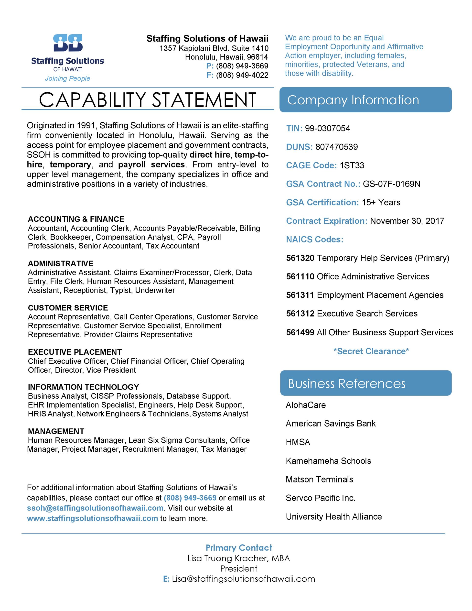 Free capability statement 15