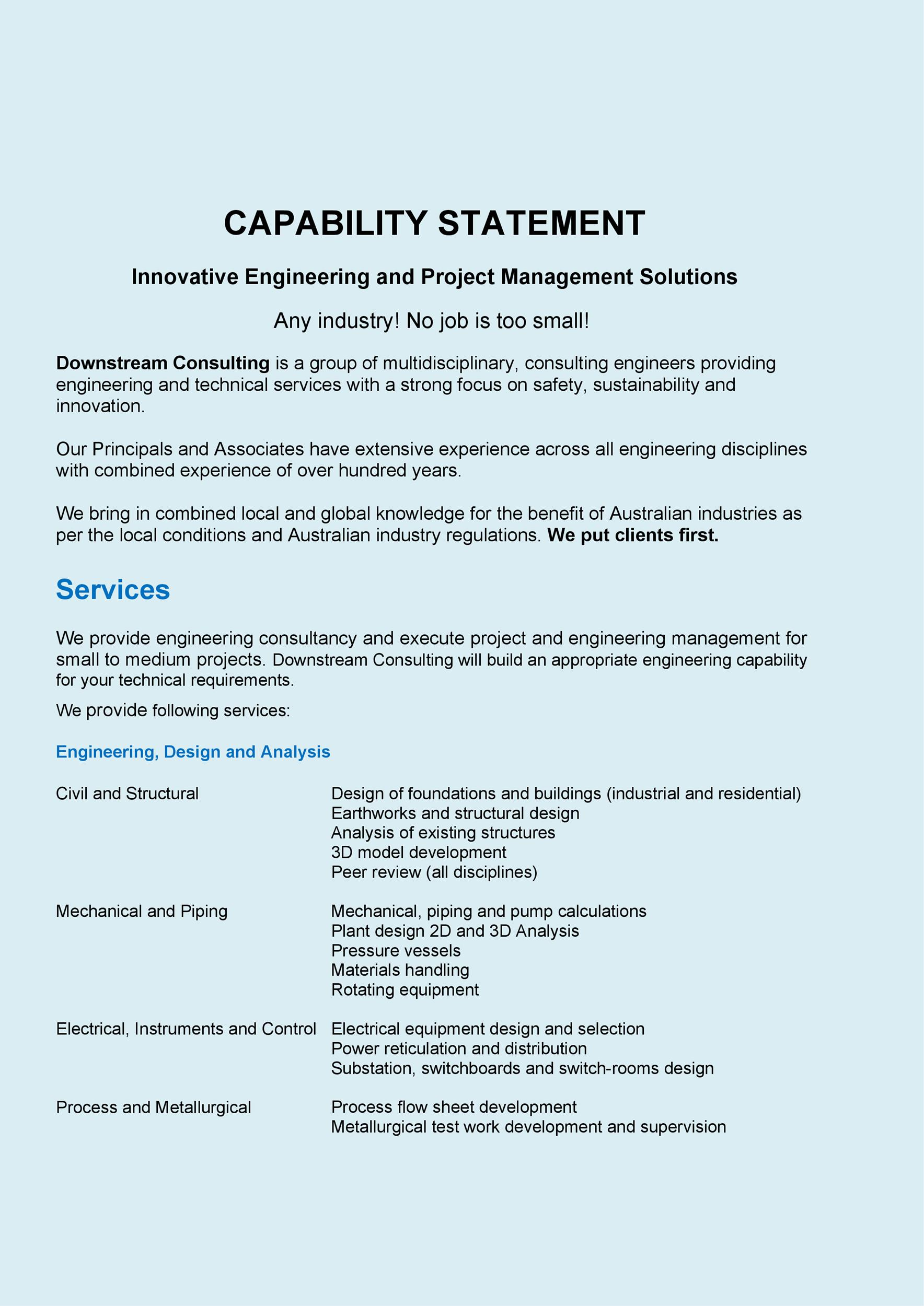 Free capability statement 20