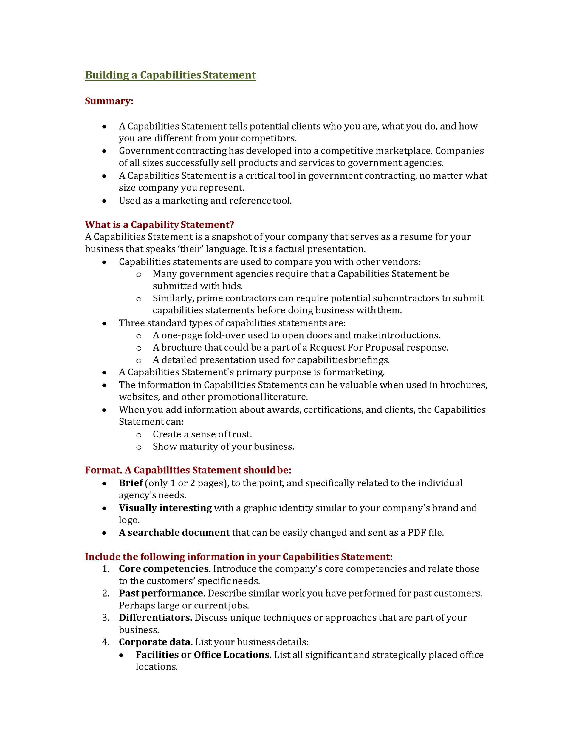 Free capability statement 22