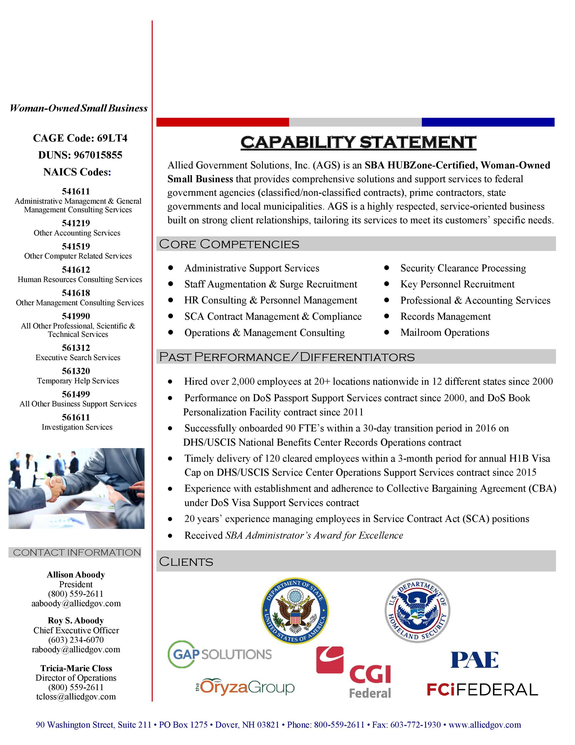 Free capability statement 23