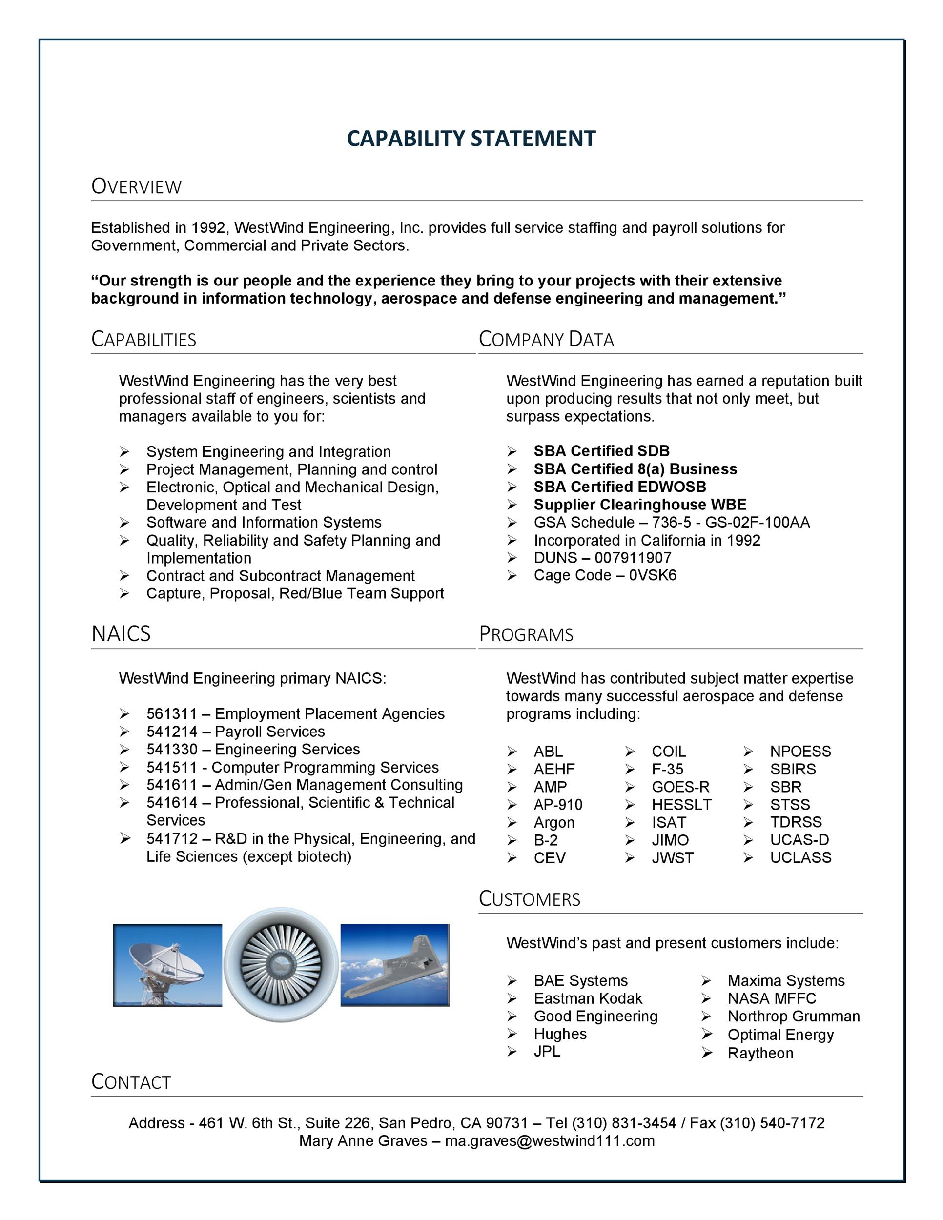 Free capability statement 24