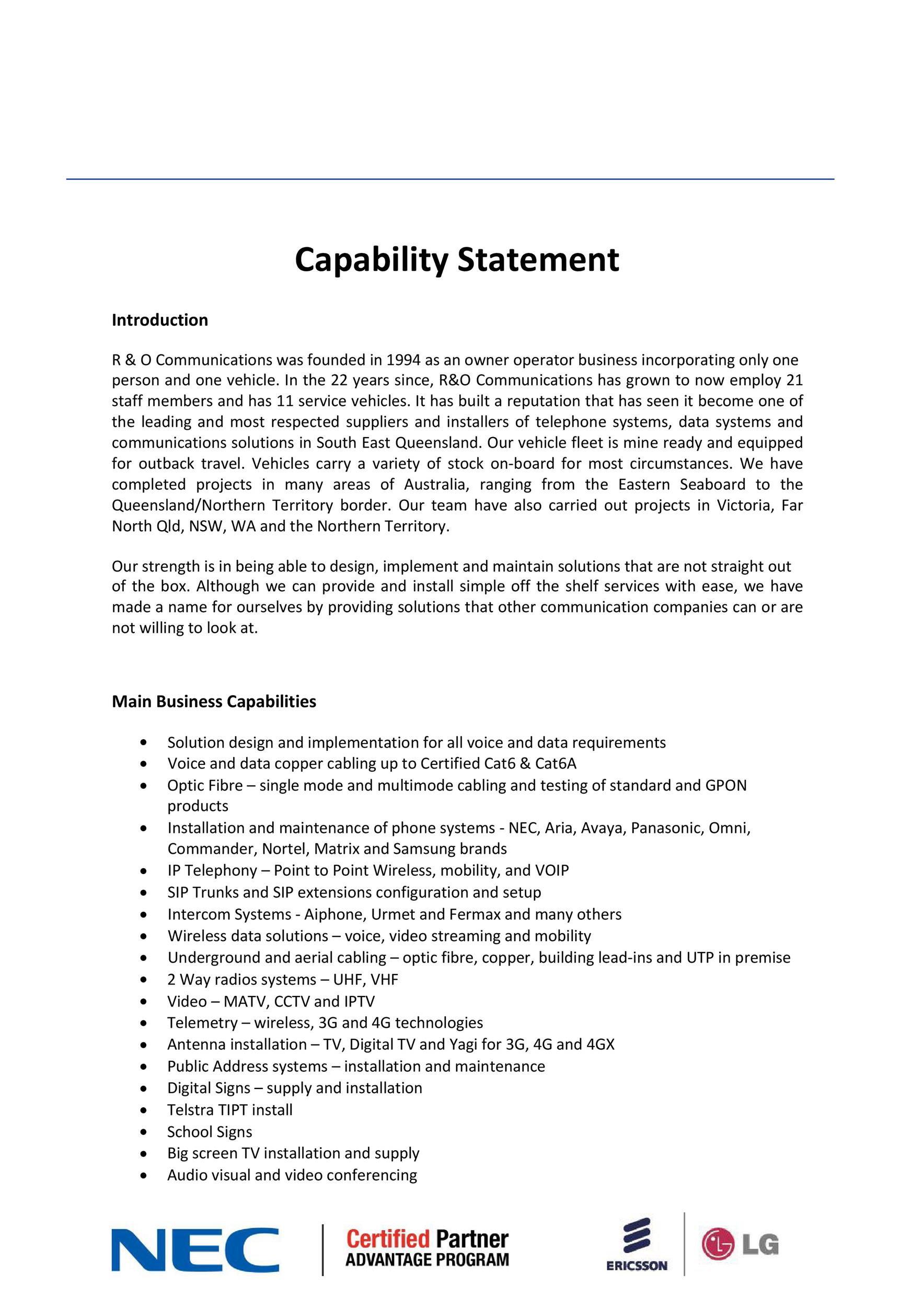Free capability statement 32