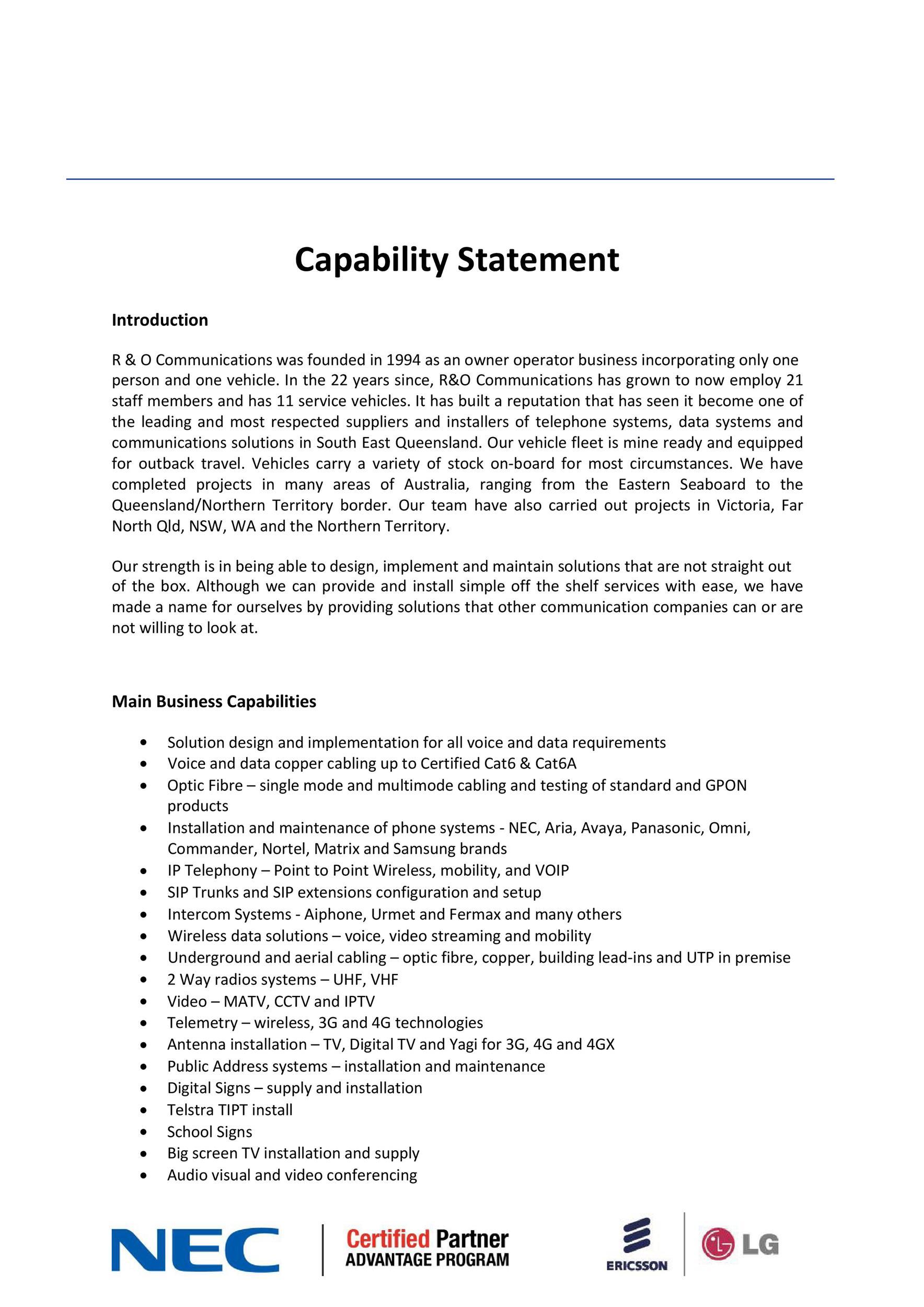 Free capability statement 32