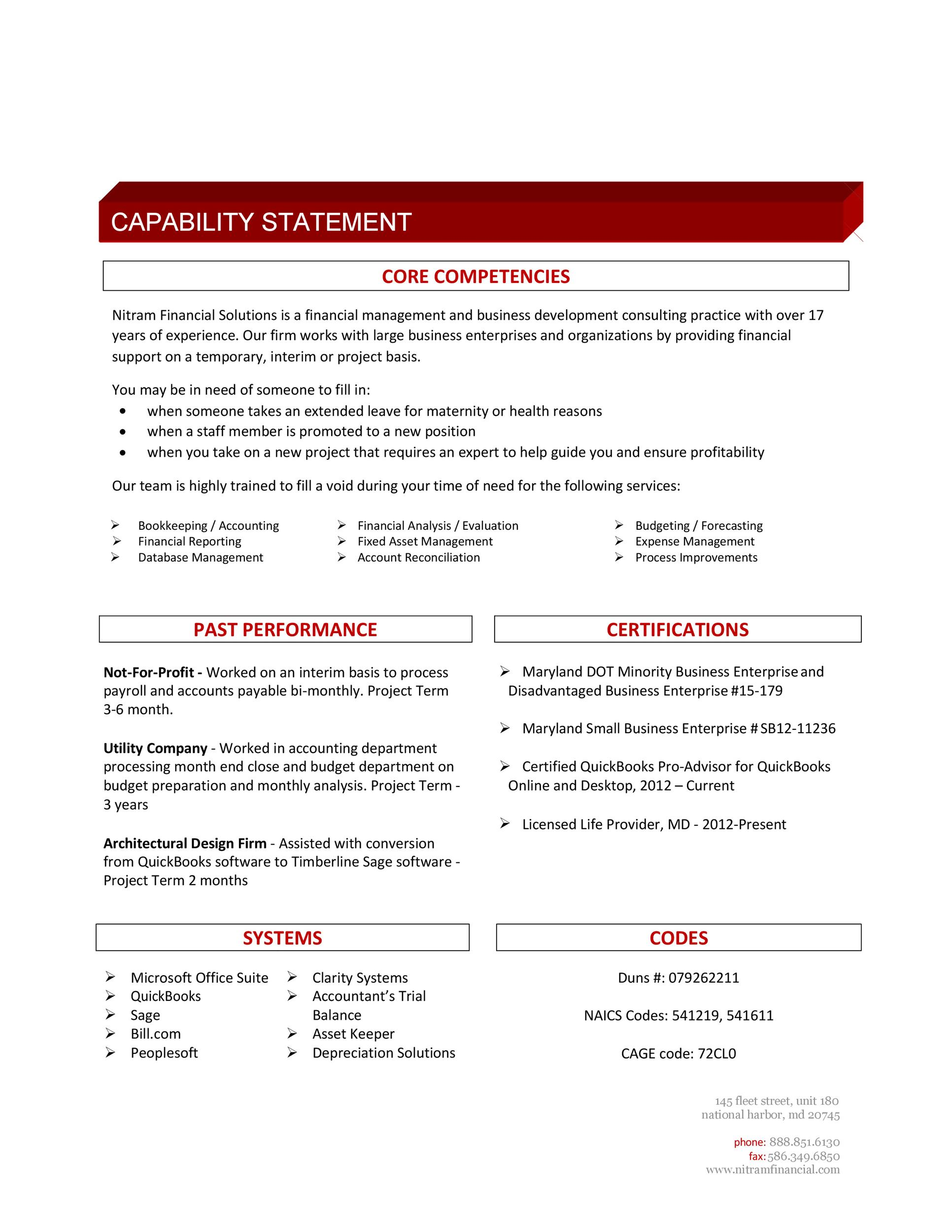 Free capability statement 39