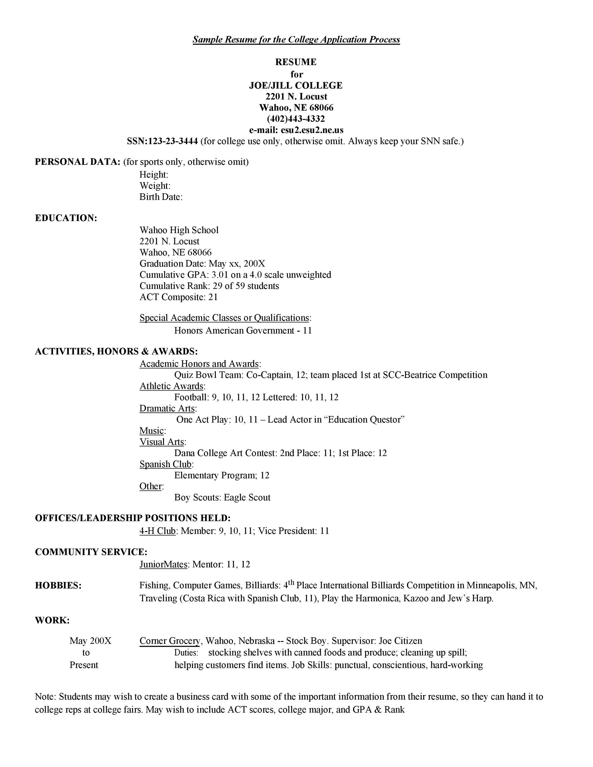 50 college student resume templates   u0026 format   u1405 template lab