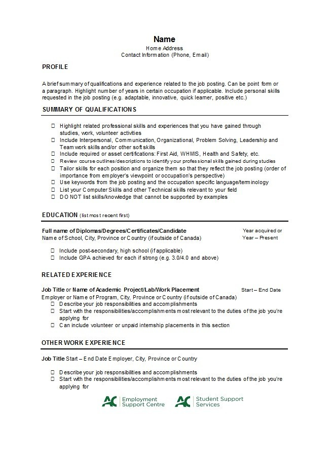 Free college resume template 04