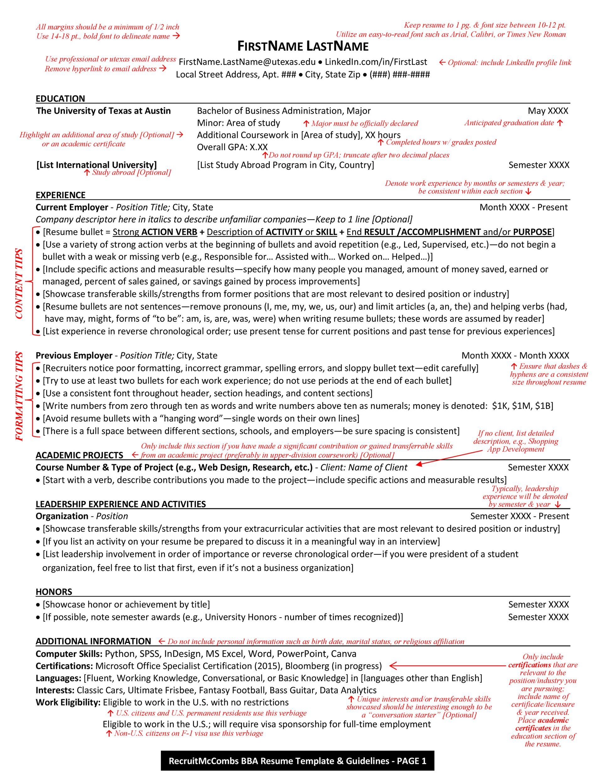 Free college resume template 05