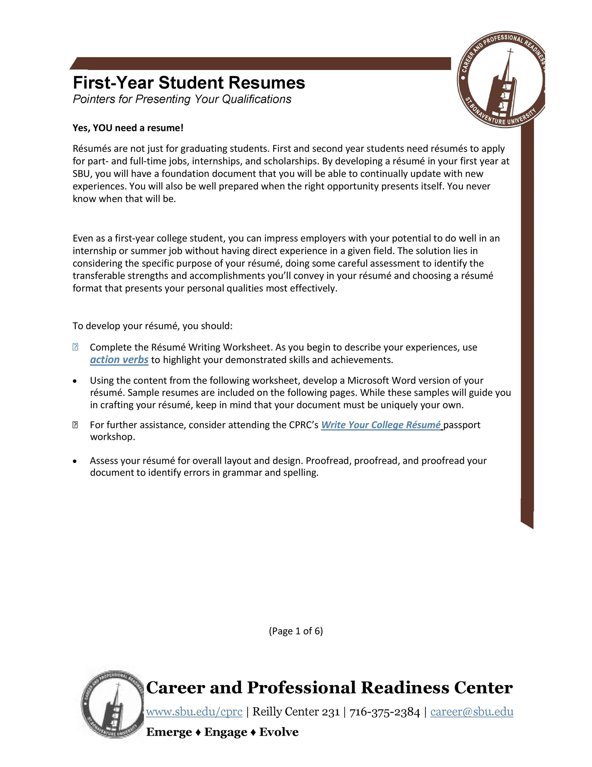 Free college resume template 07
