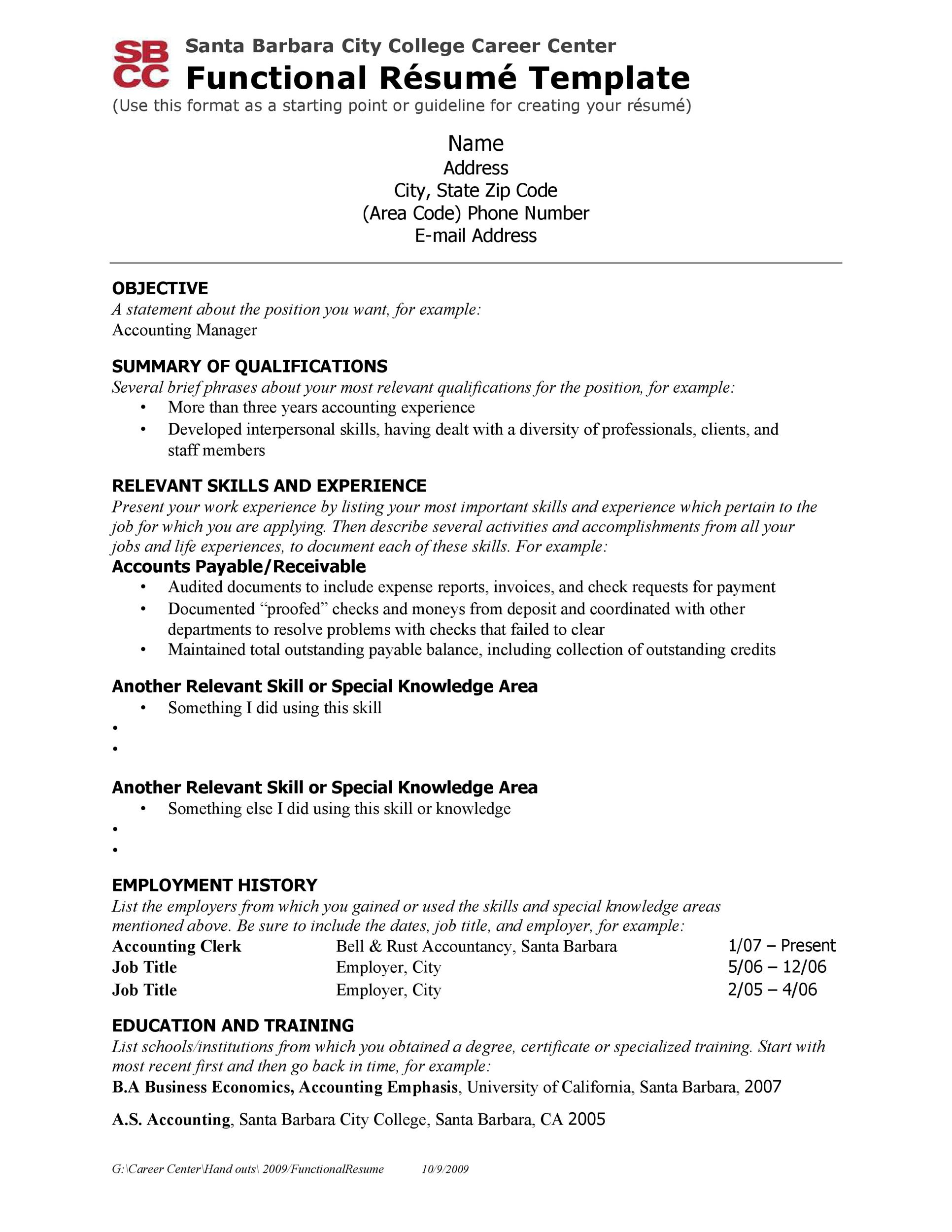 Free college resume template 12