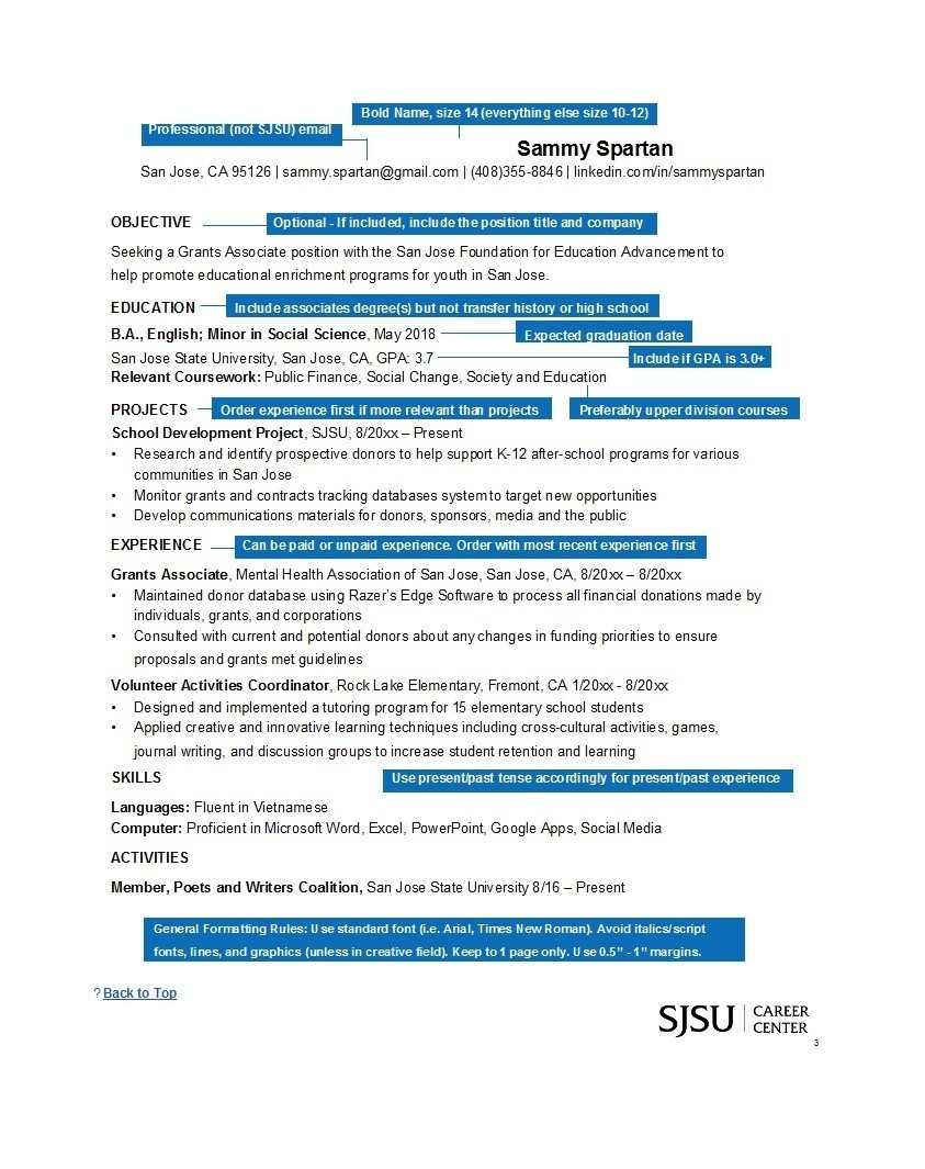 Free college resume template 14