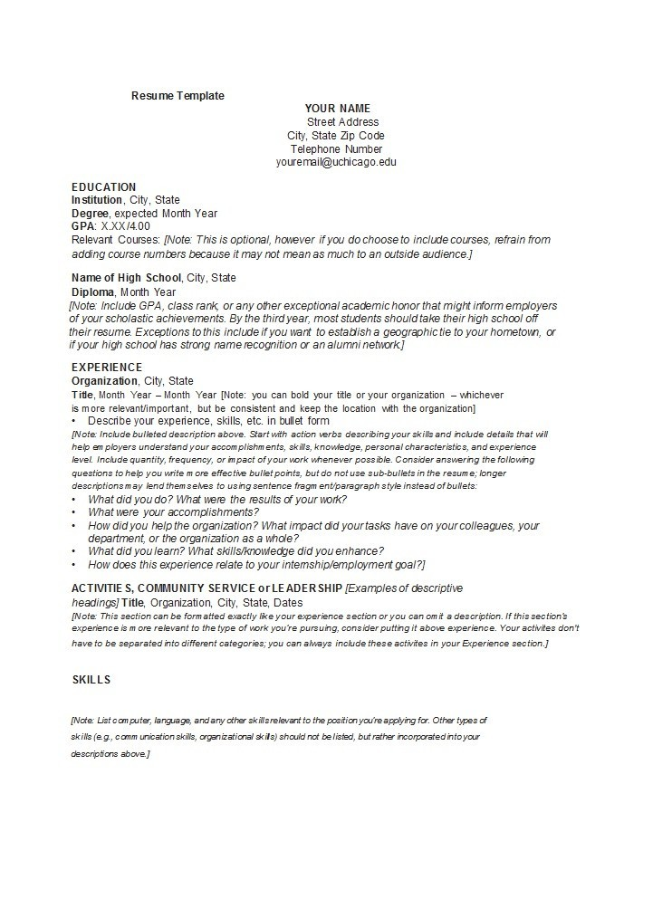 Free college resume template 16